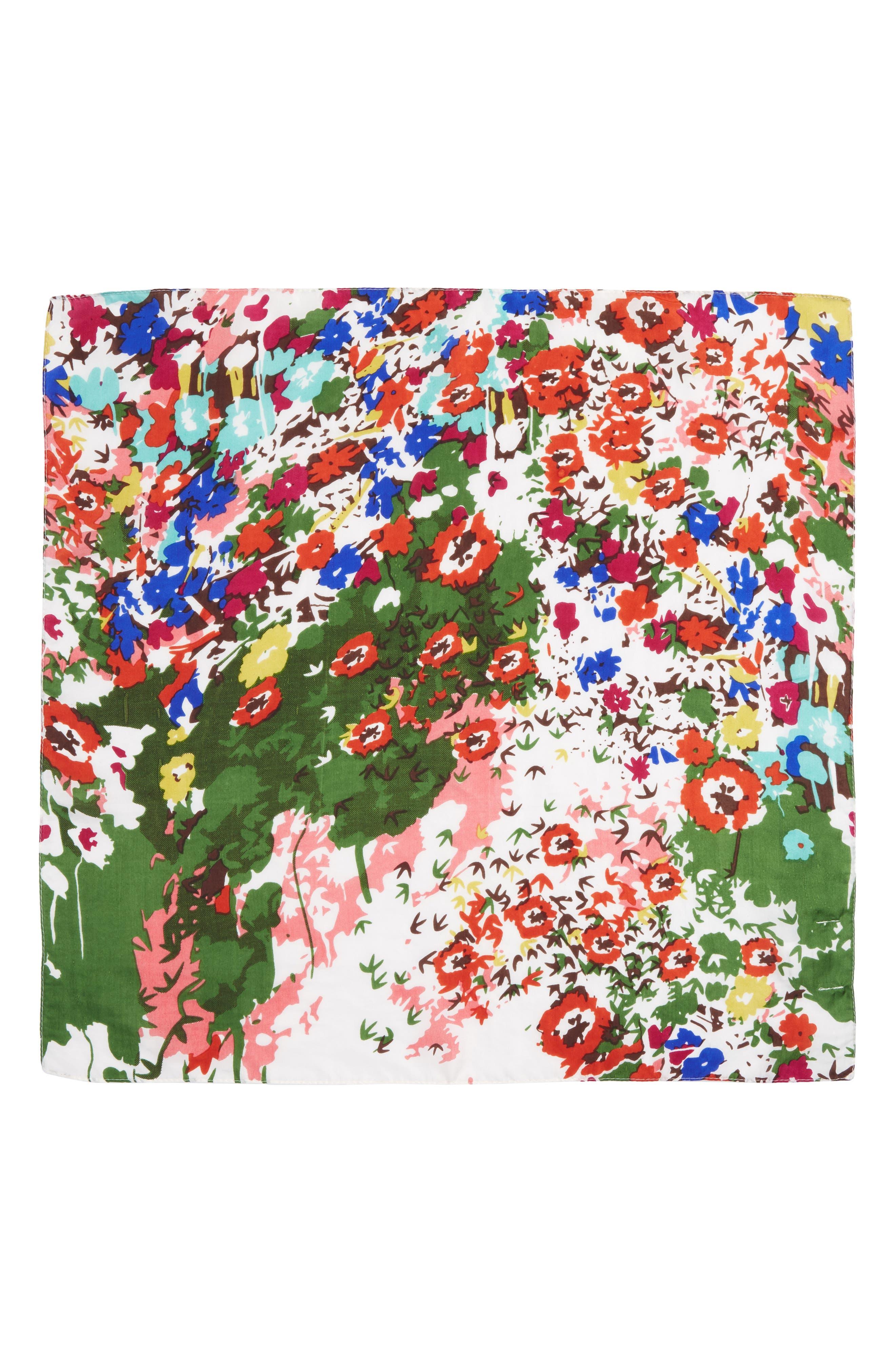 Alternate Image 2  - Sole Society Floral Print Silk Bandana