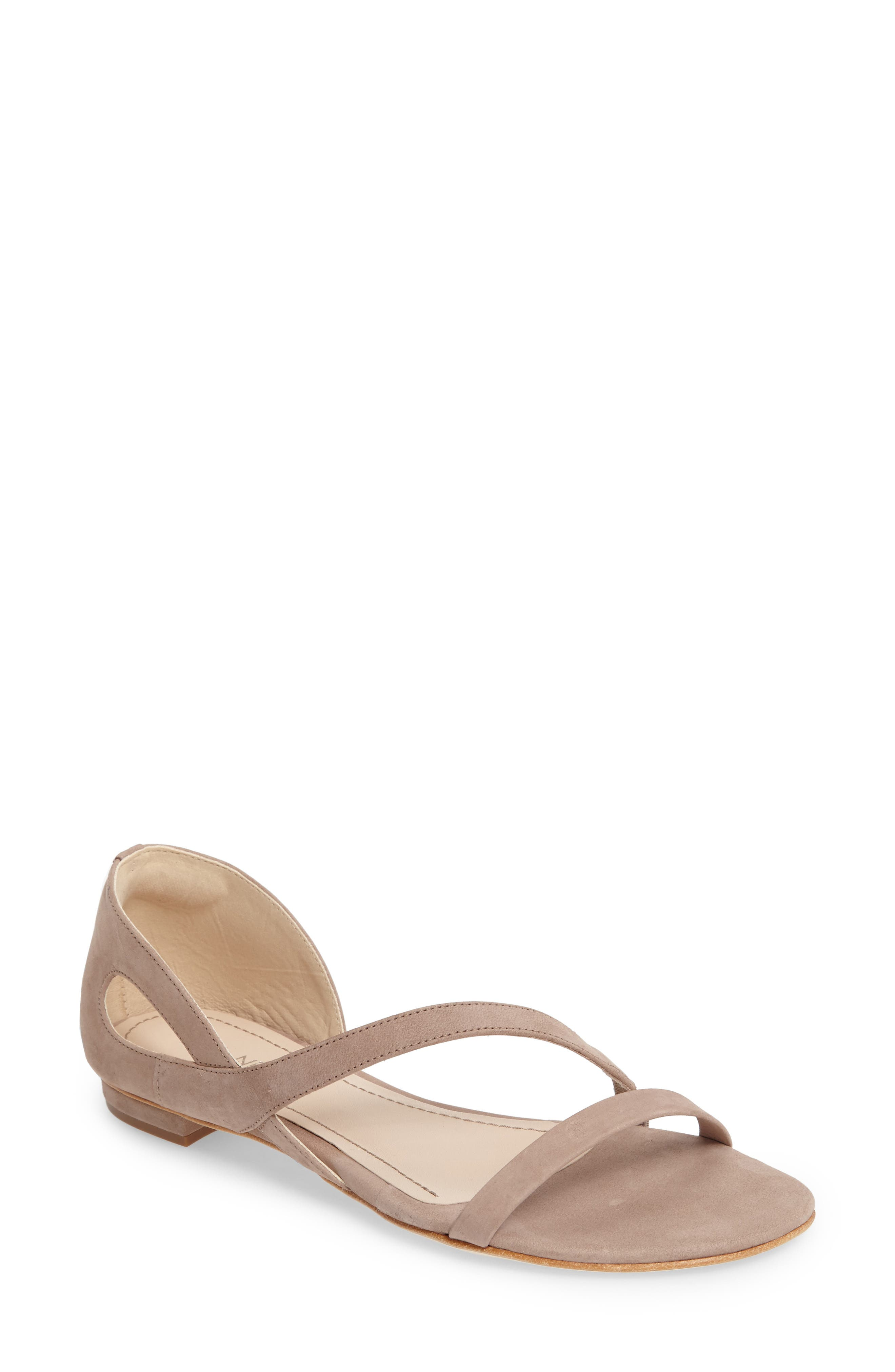 Jeanne Sandal,                         Main,                         color, Taupe Leather