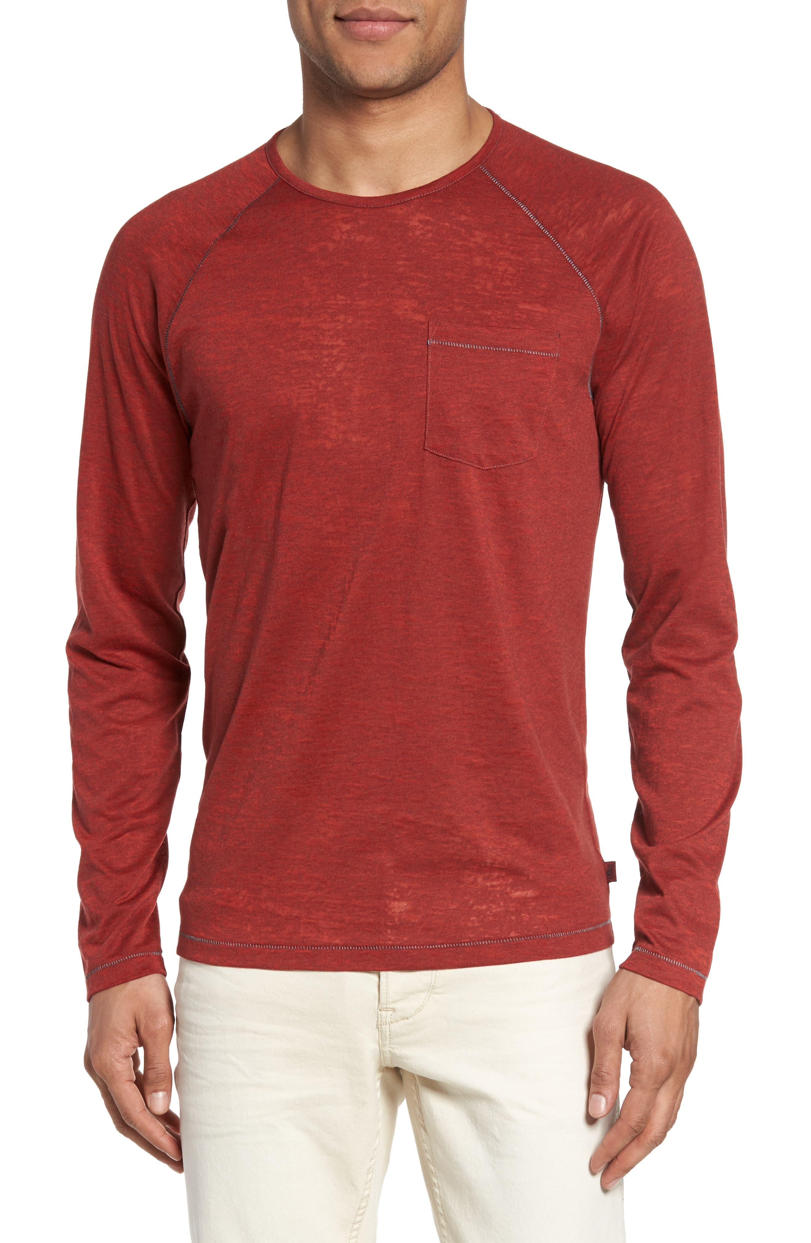 Raglan Sleeve T-Shirt,                         Main,                         color, Tomato
