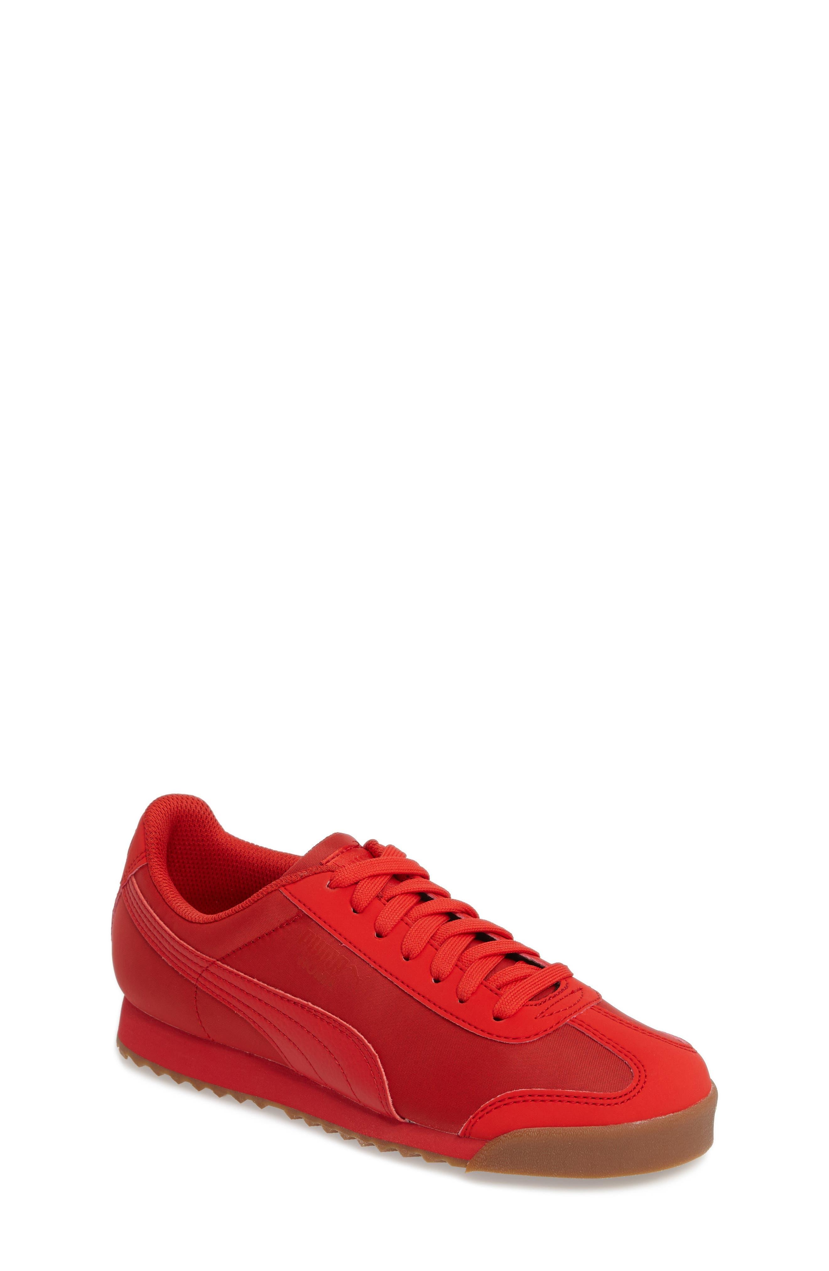 Roma Basic Summer Sneaker,                             Main thumbnail 1, color,                             High Risk Red