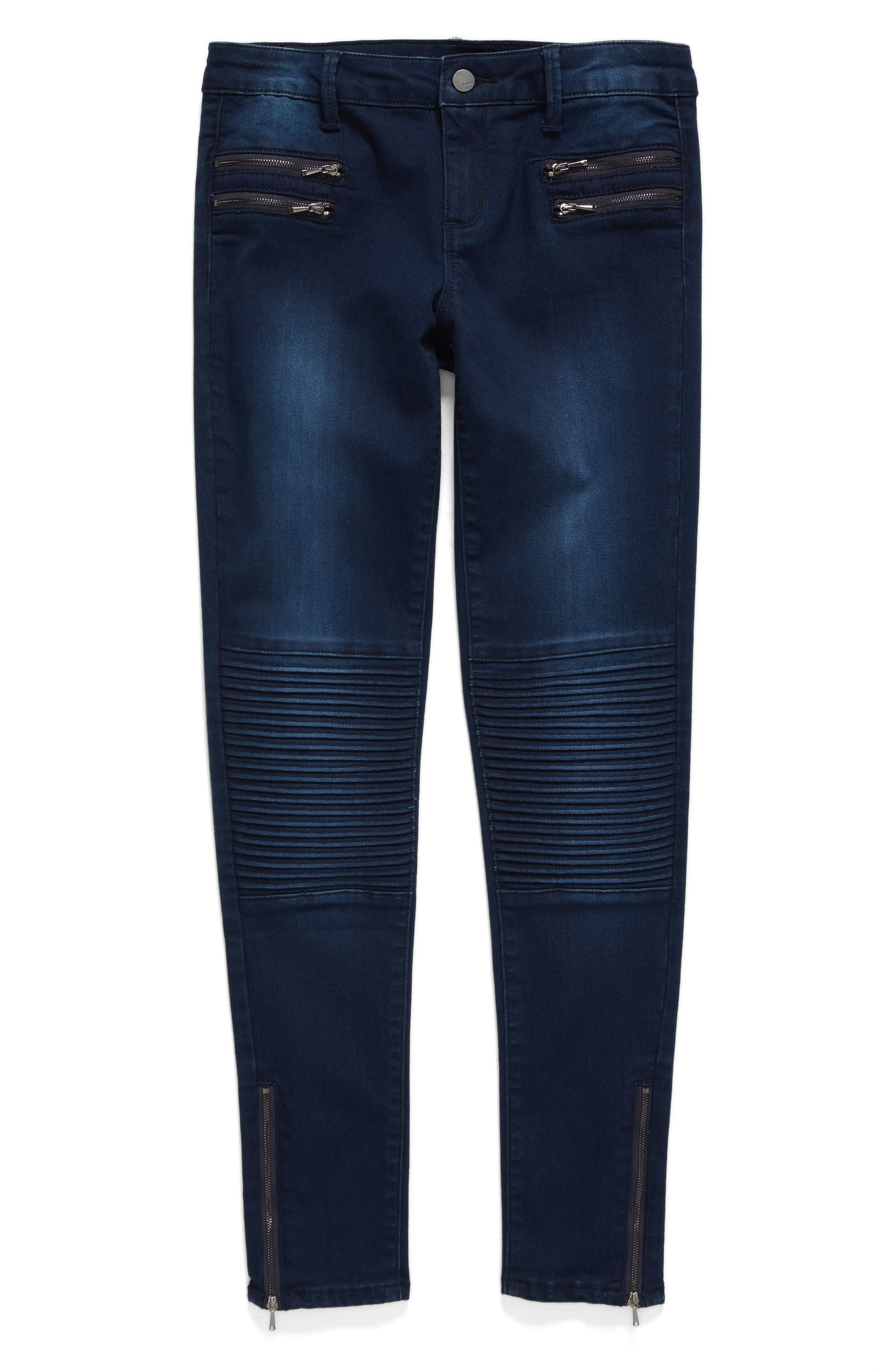 Tractr Moto Skinny Jeans (Big Girls)
