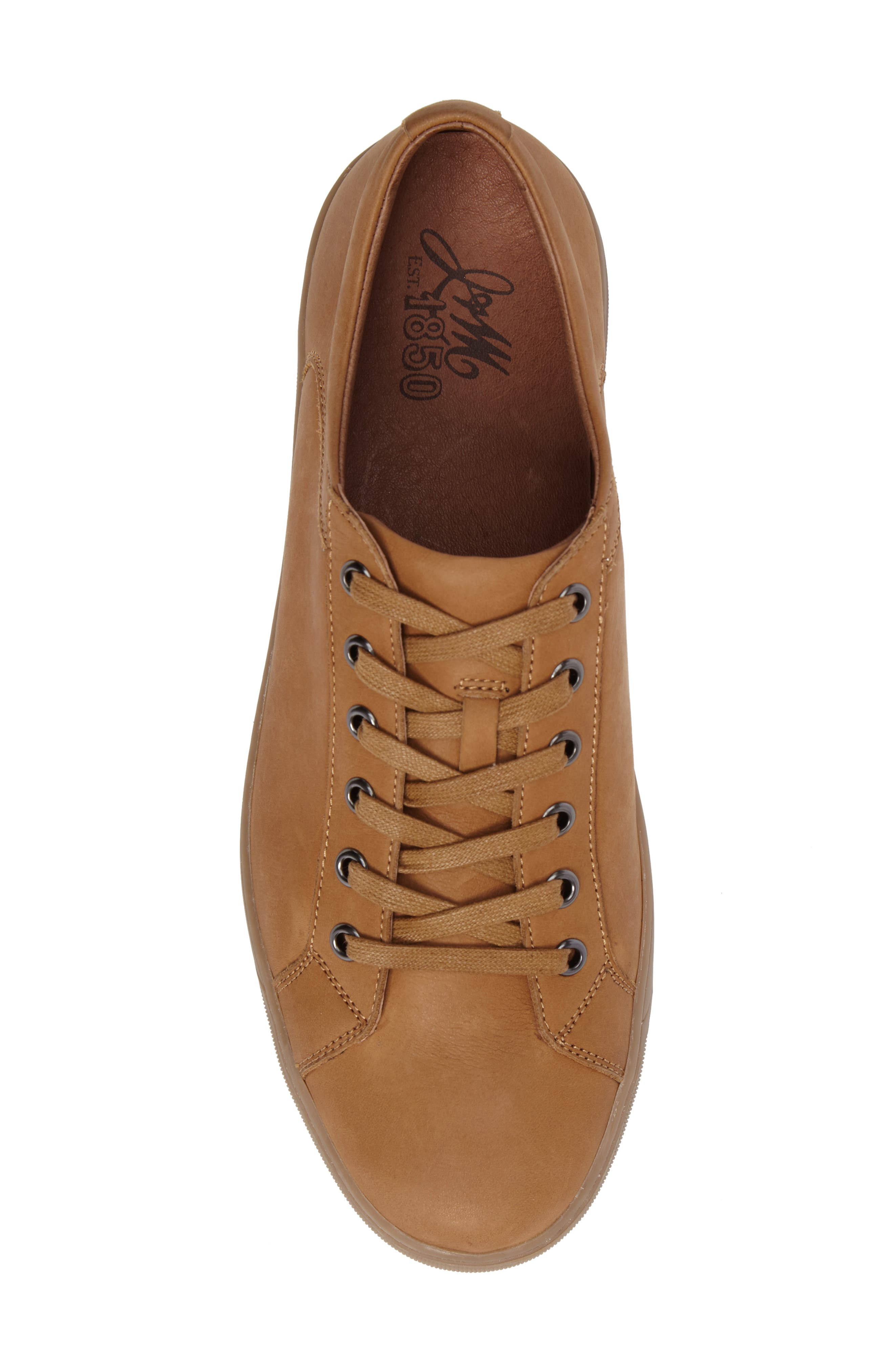 Allister Sneaker,                             Alternate thumbnail 4, color,                             Natural Leather
