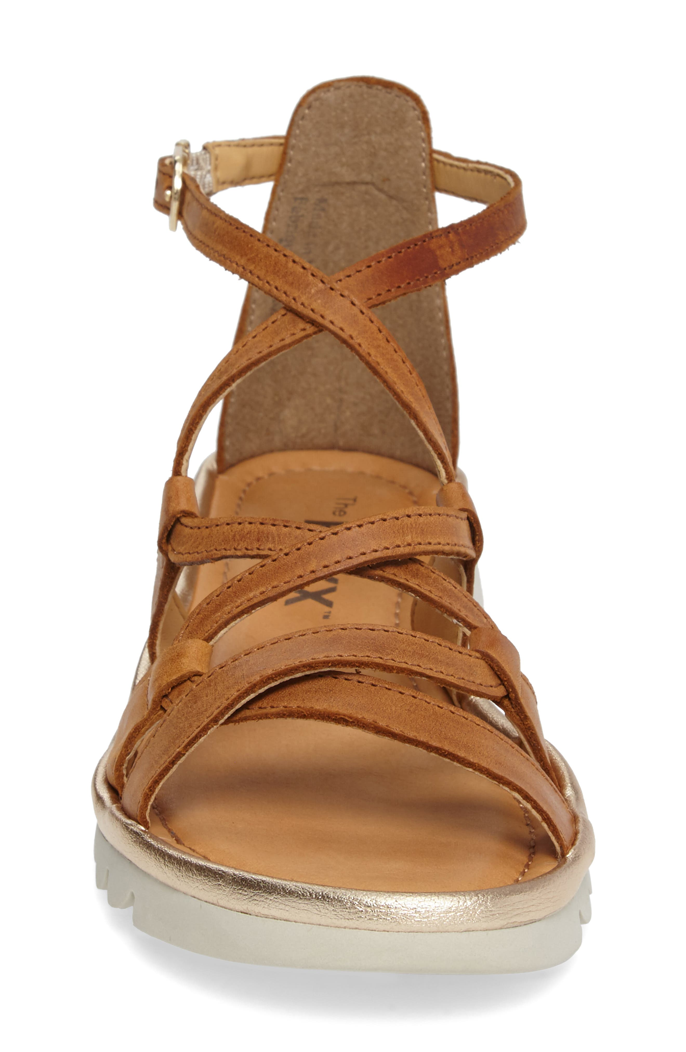 Catch a Wave Sandal,                             Alternate thumbnail 5, color,                             Cognac Leather