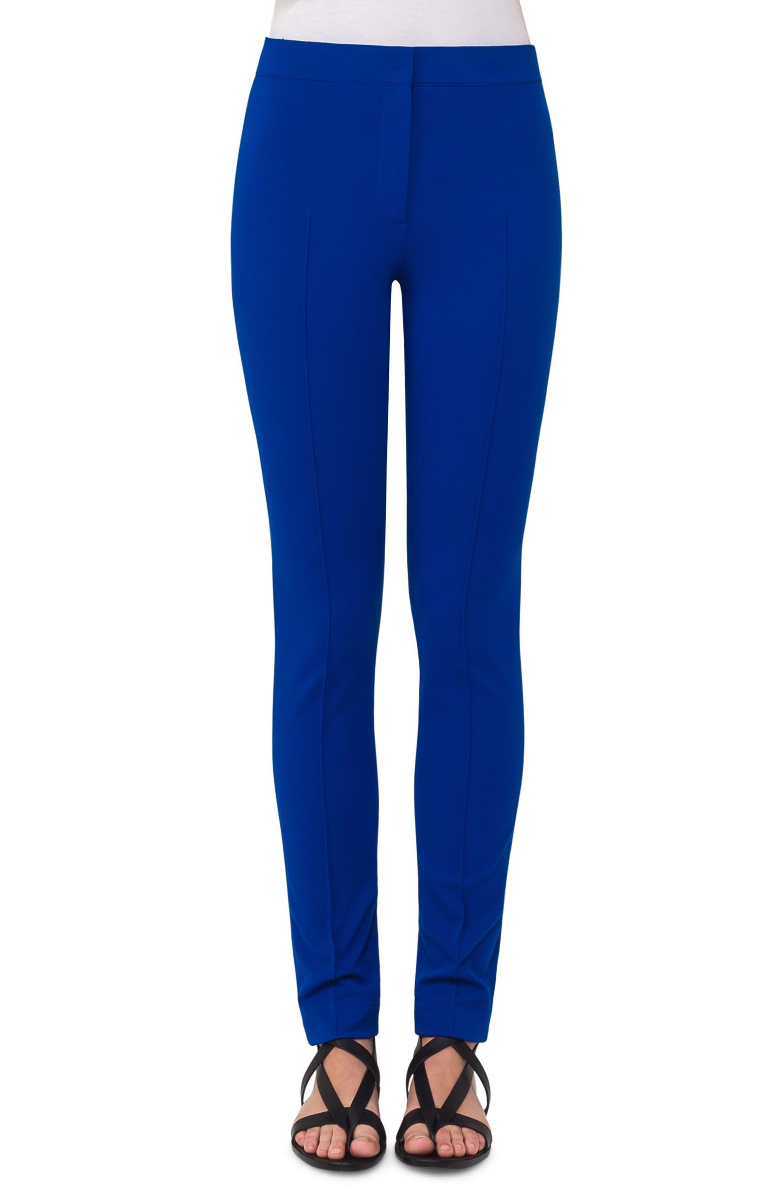 Mara Stretch Jersey Skinny Pants,                         Main,                         color, Blue