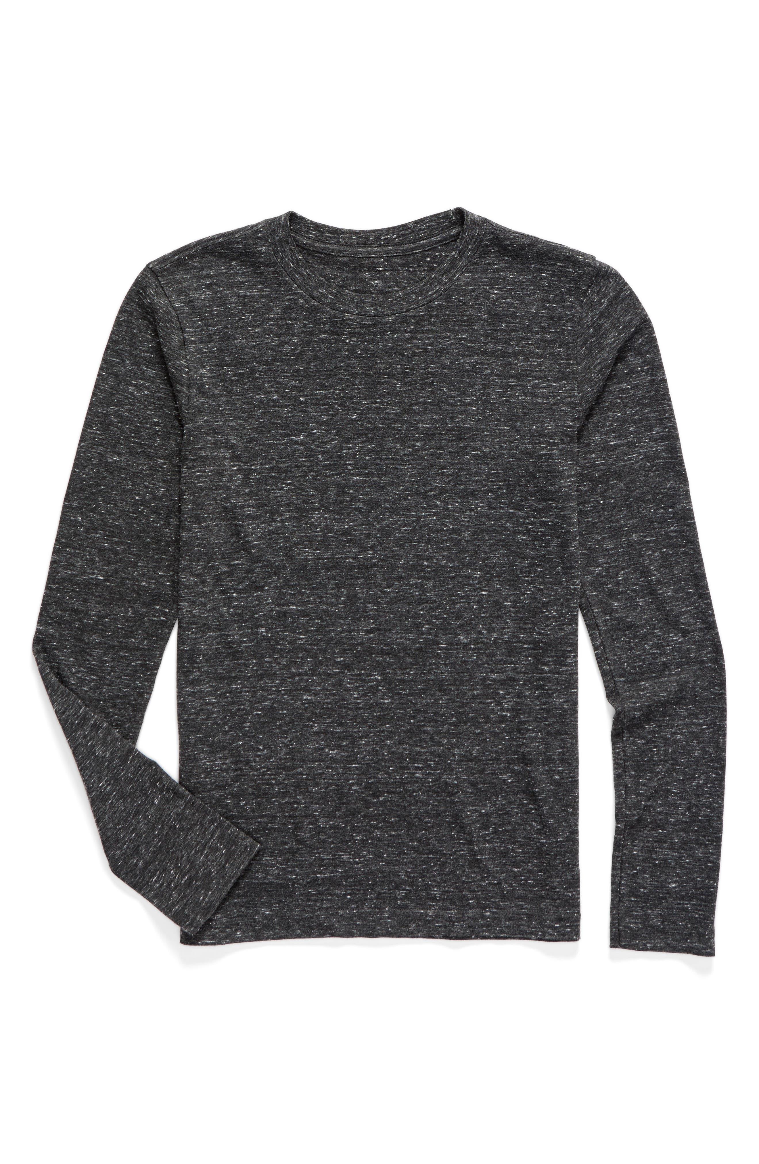 Basic T-Shirt,                             Main thumbnail 1, color,                             Black