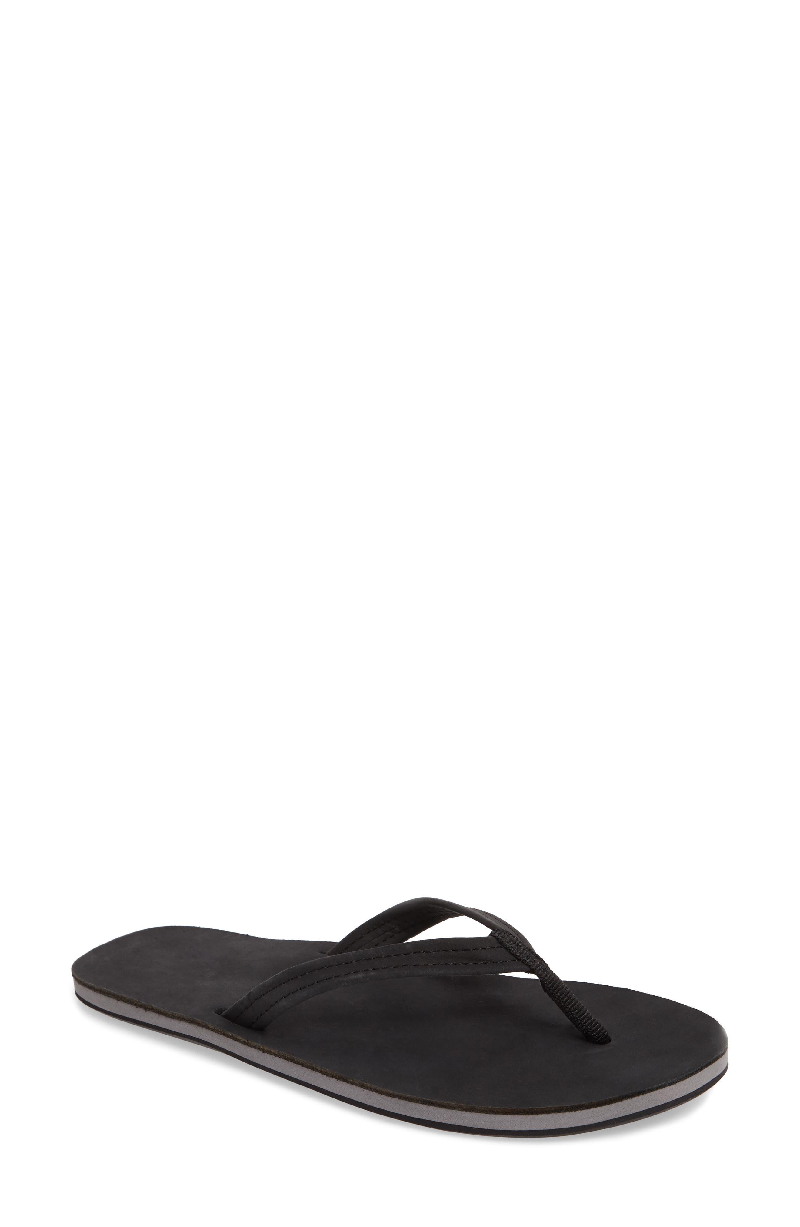 Fields Flip Flop,                         Main,                         color, Black/ Seafoam/ Black