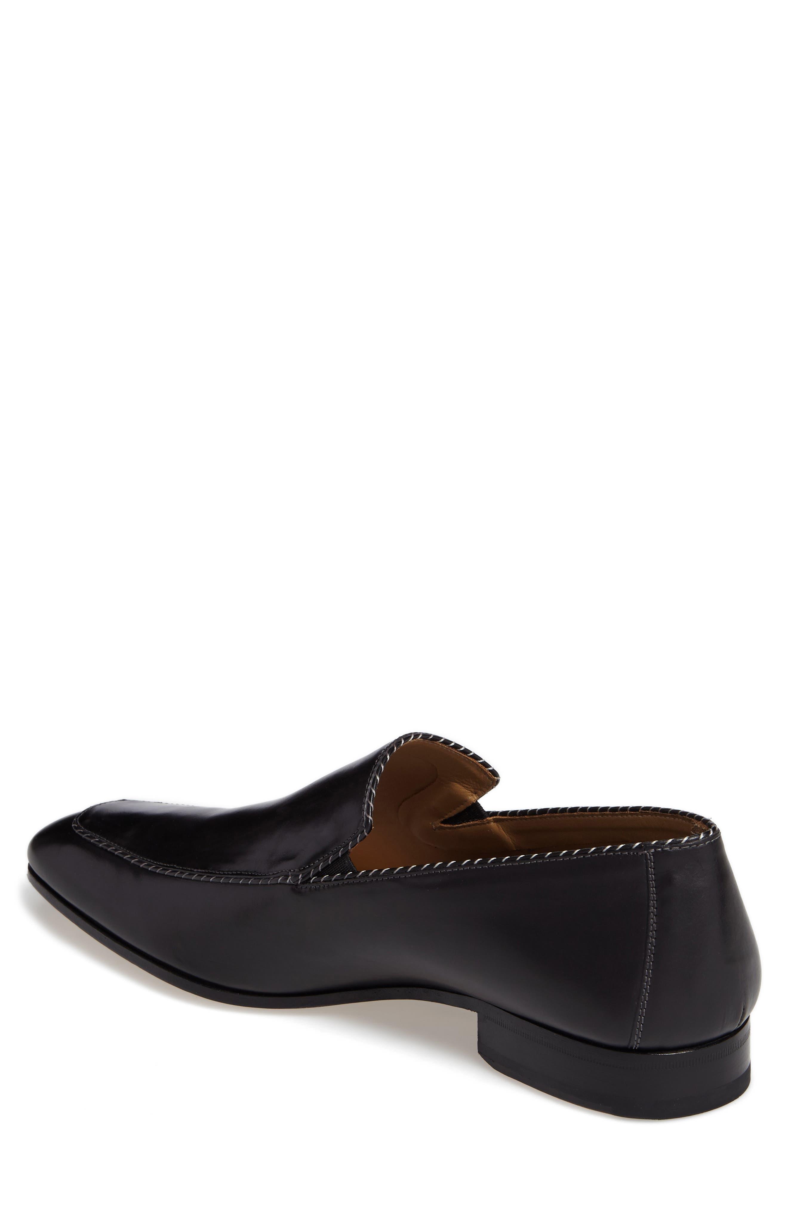 Brandt Venetian Loafer,                             Alternate thumbnail 2, color,                             Black Leather