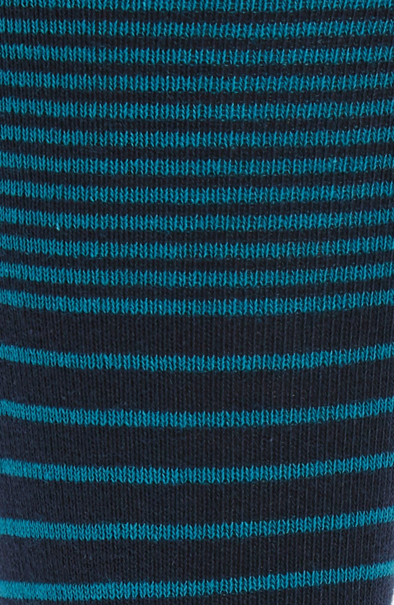 Multi Stripe Socks,                             Alternate thumbnail 2, color,                             Teal/ Navy