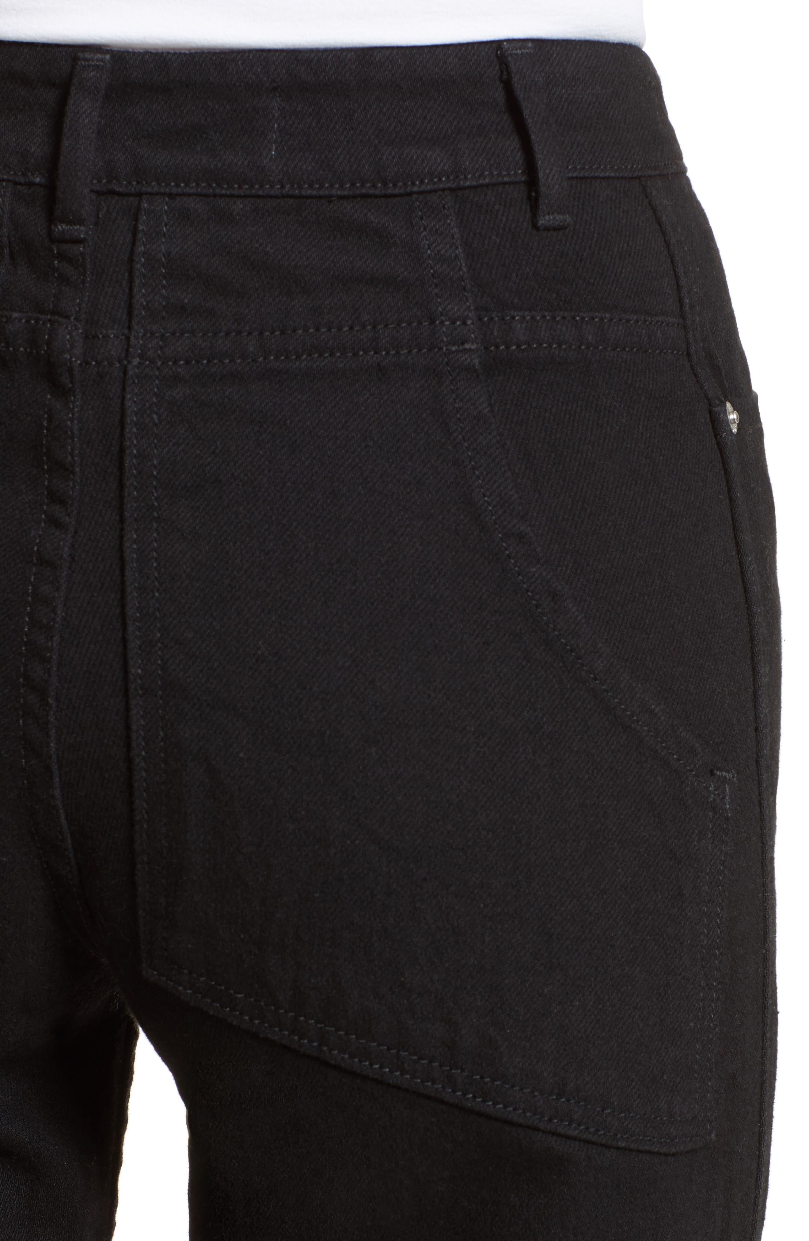 Alternate Image 6  - Eckhaus Latta EL Wide Leg Jeans (Almost Black)