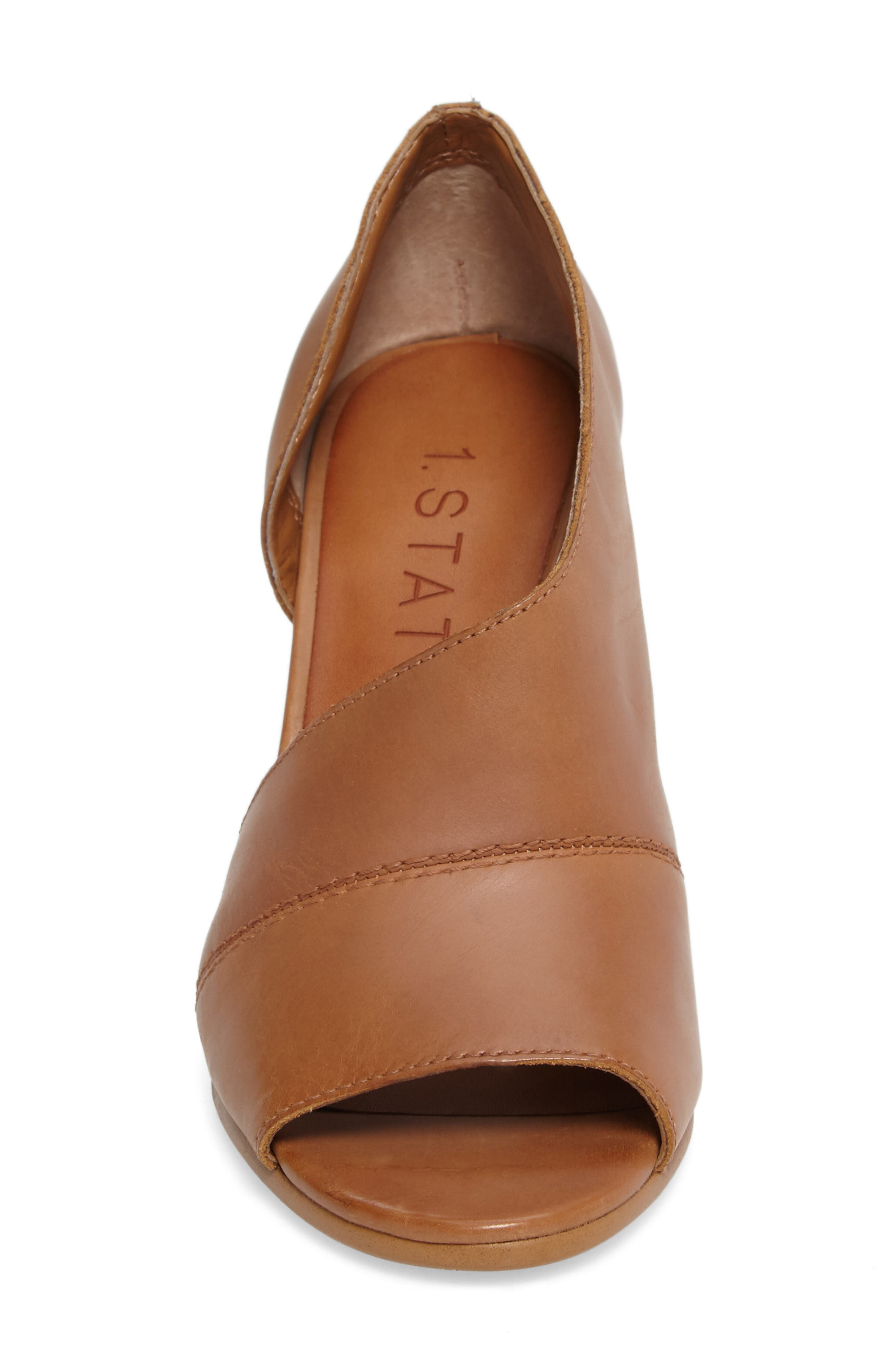 Amble Asymmetrical Sandal,                             Alternate thumbnail 4, color,                             Tan Leather