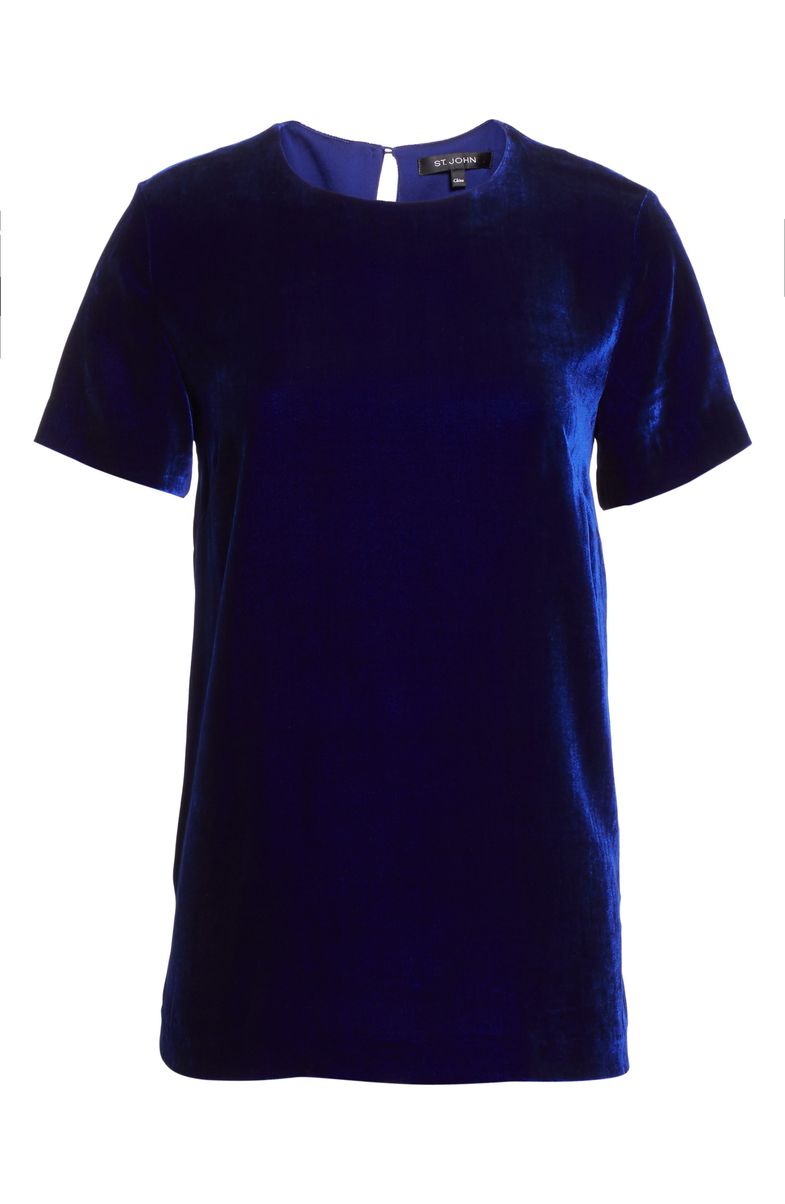 Velvet Top,                             Alternate thumbnail 7, color,                             Lazuli