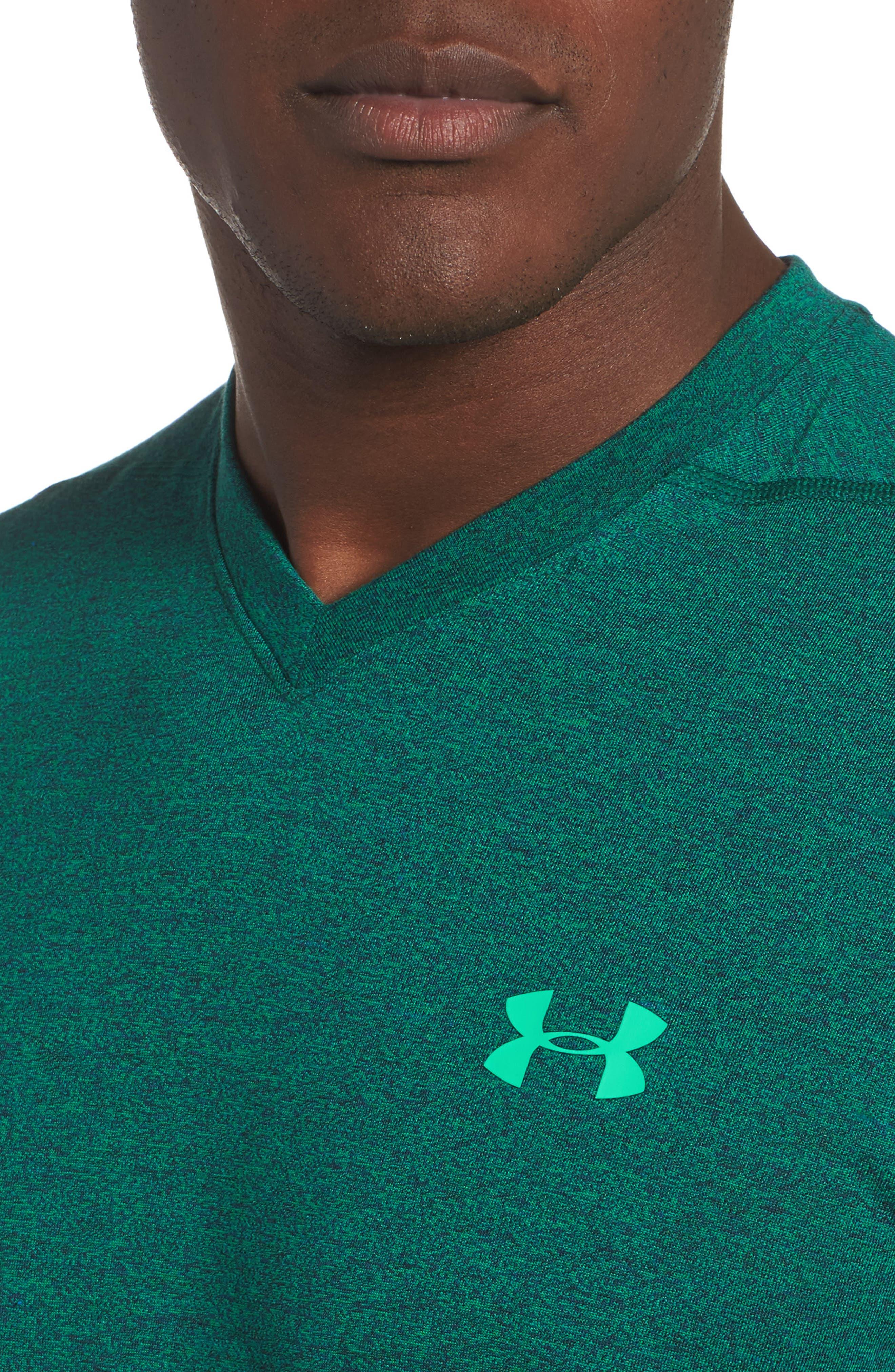 Threadborne Siro Regular Fit T-Shirt,                             Alternate thumbnail 4, color,                             Blue Marker/ Vapor Green