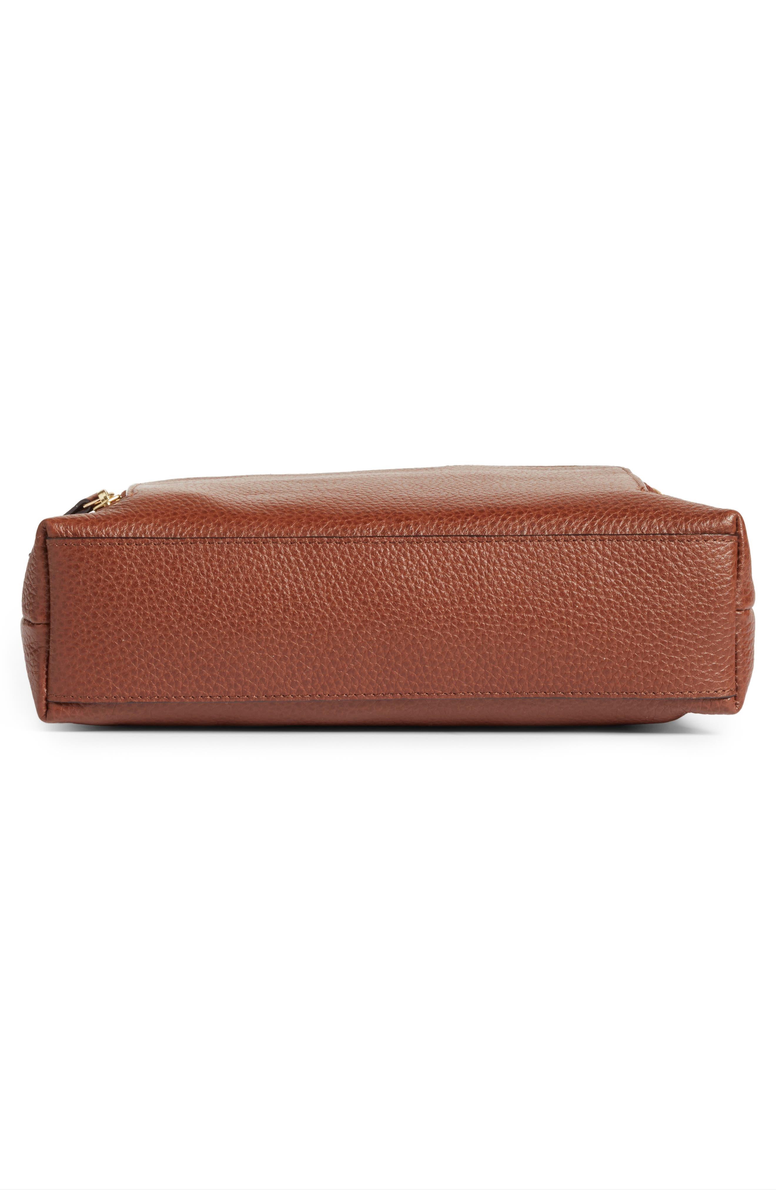 Alternate Image 6  - Nordstrom Pebbled Leather Crossbody Bag