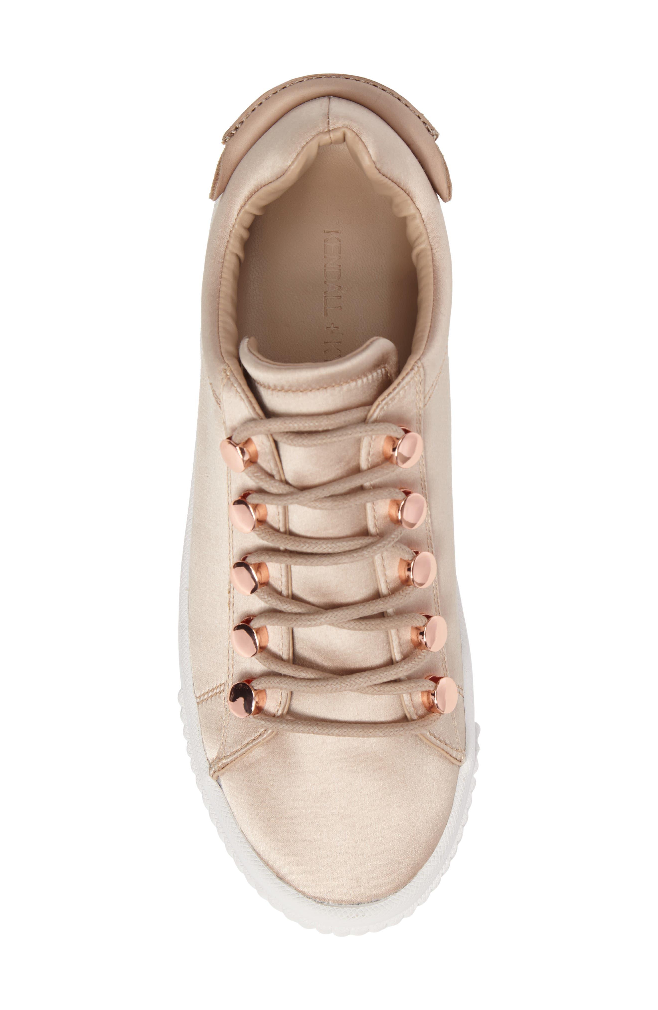 Rae 3 Platform Sneaker,                             Alternate thumbnail 5, color,                             Blush Satin