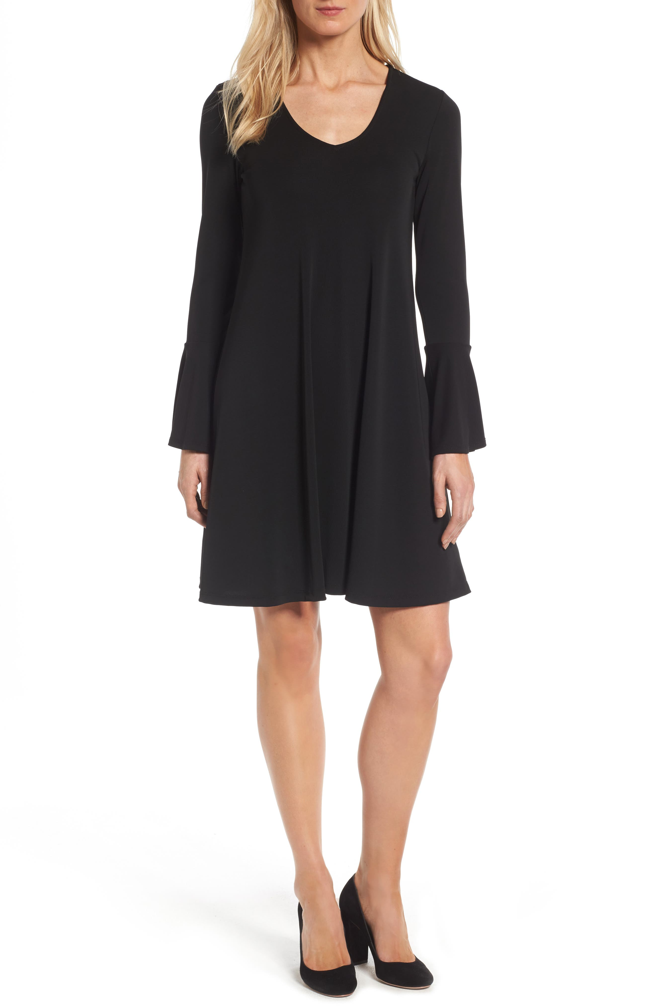 Karen Kane Taylor Flare Sleeve A-Line Dress (Regular & Petite)