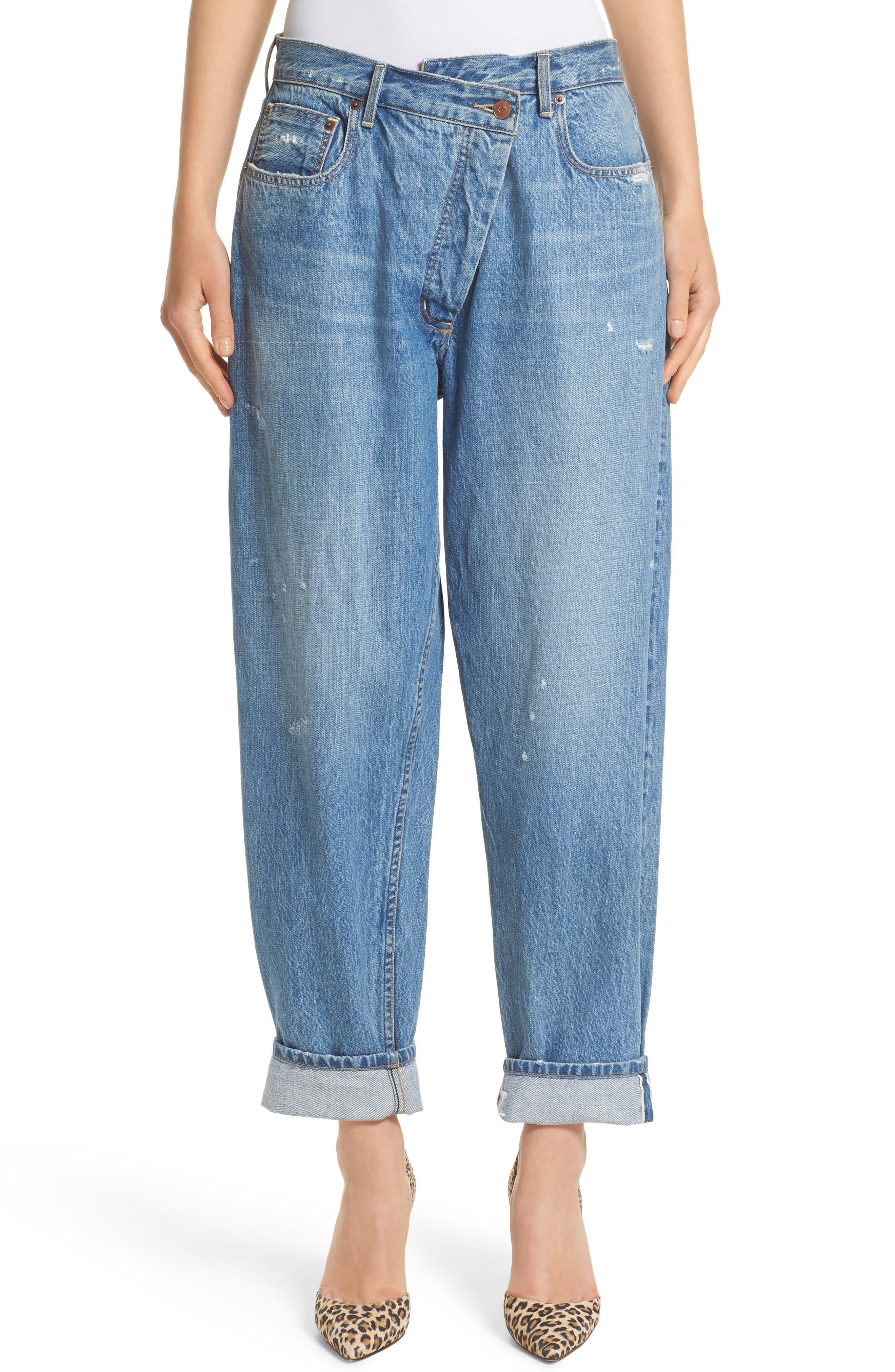Monse Wrap Waist Jeans (Rinsed Blue)