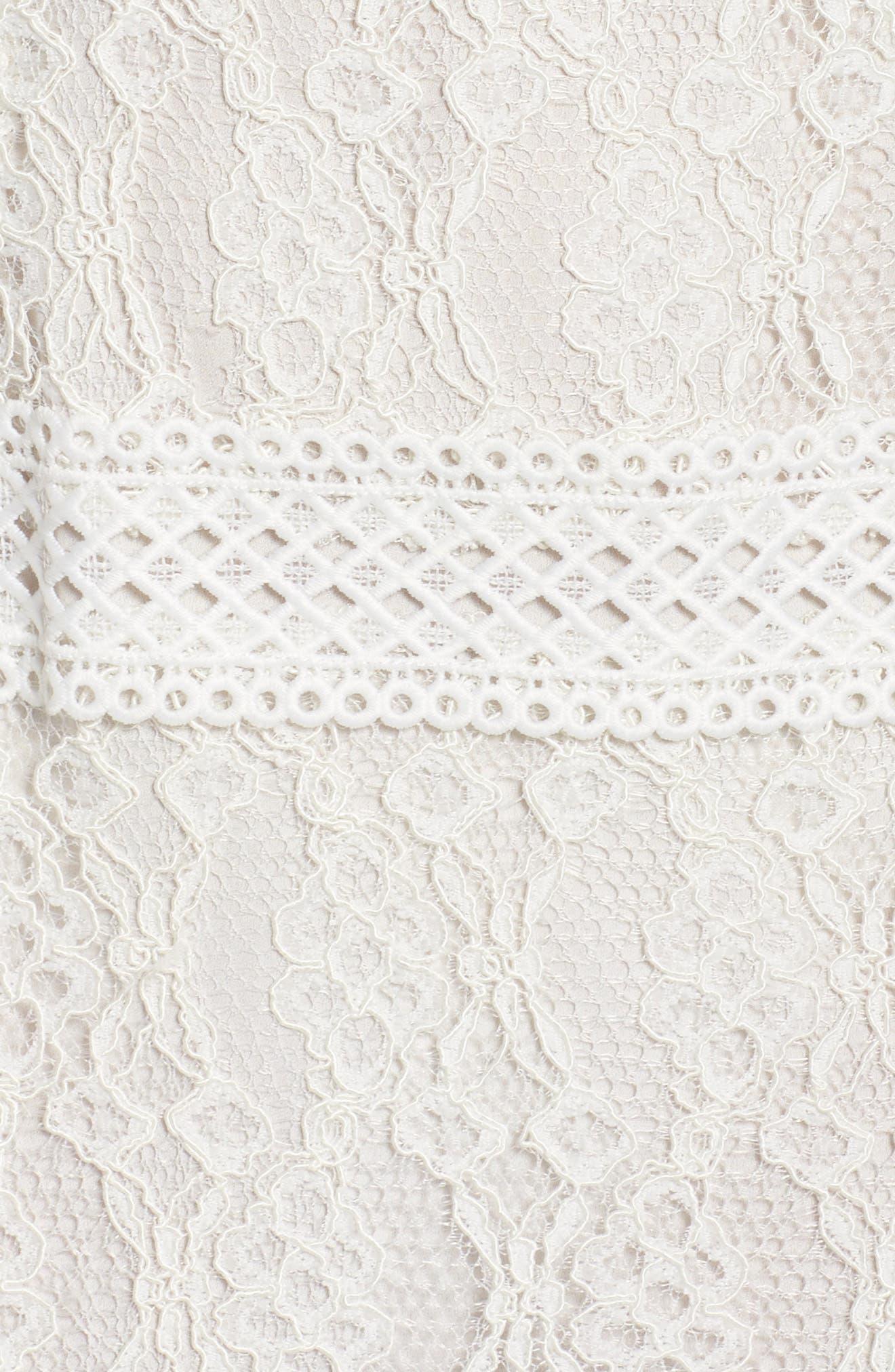 Alternate Image 5  - Foxiedox Cecilia Lace Sheath Gown