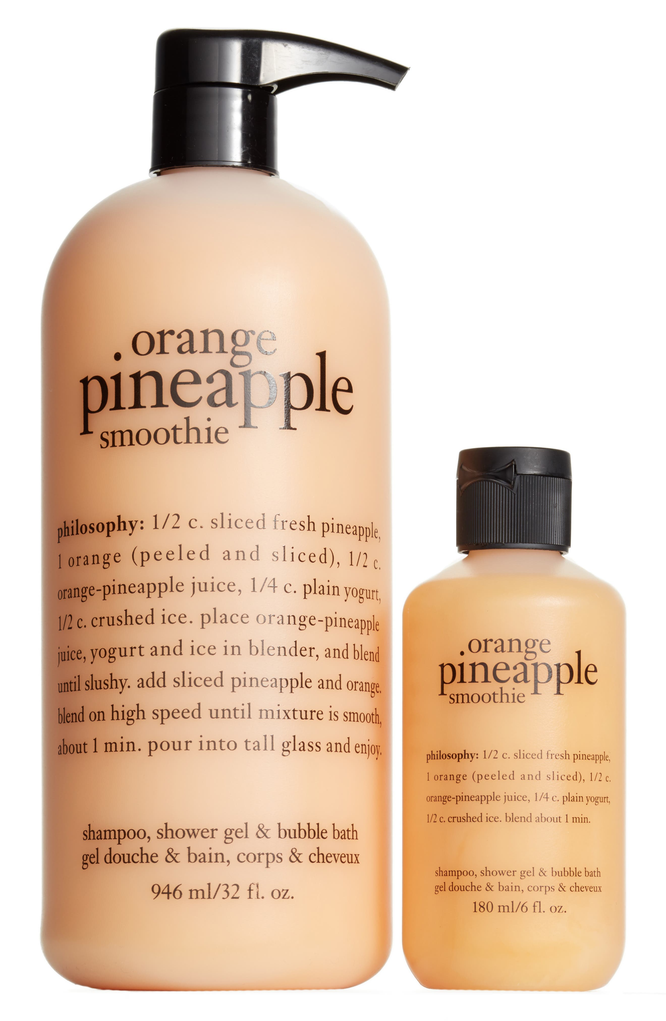 Main Image - philosophy orange pineapple smoothie shampoo, shower gel & bubble bath duo ($39 Value)