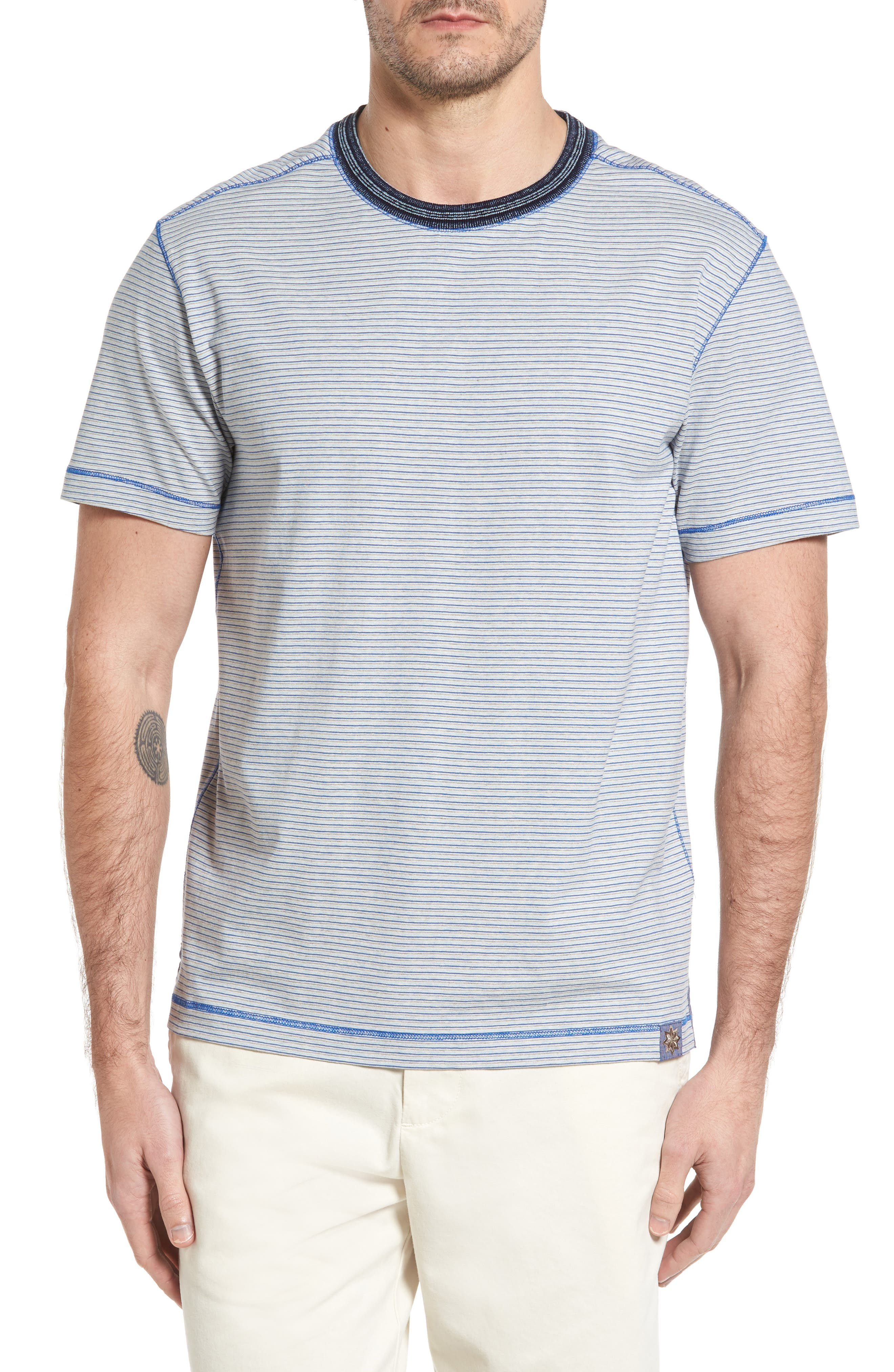 Strong Stripe T-Shirt,                         Main,                         color, Blue