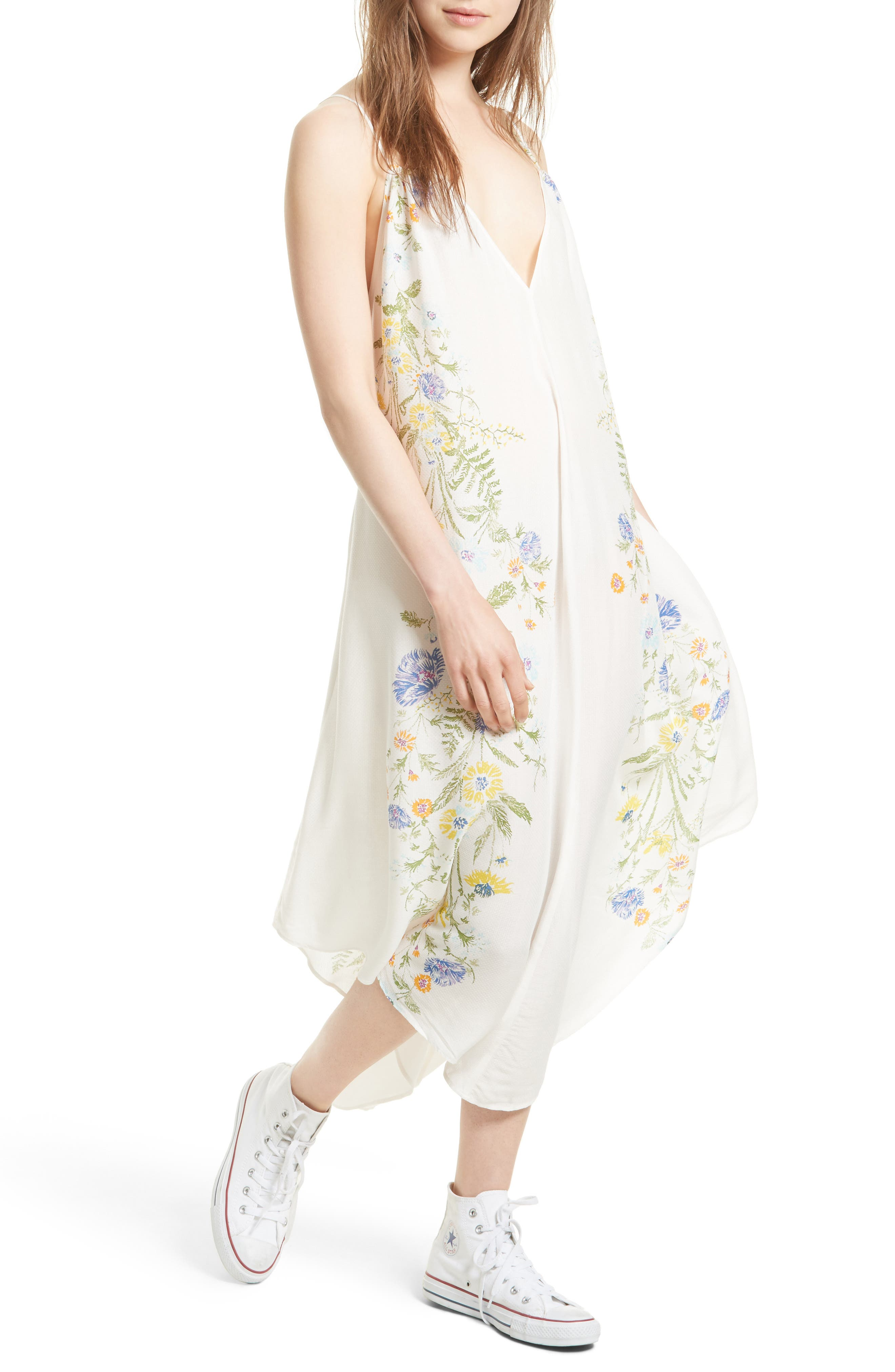 Free People Ashbury Floral Print Slipdress