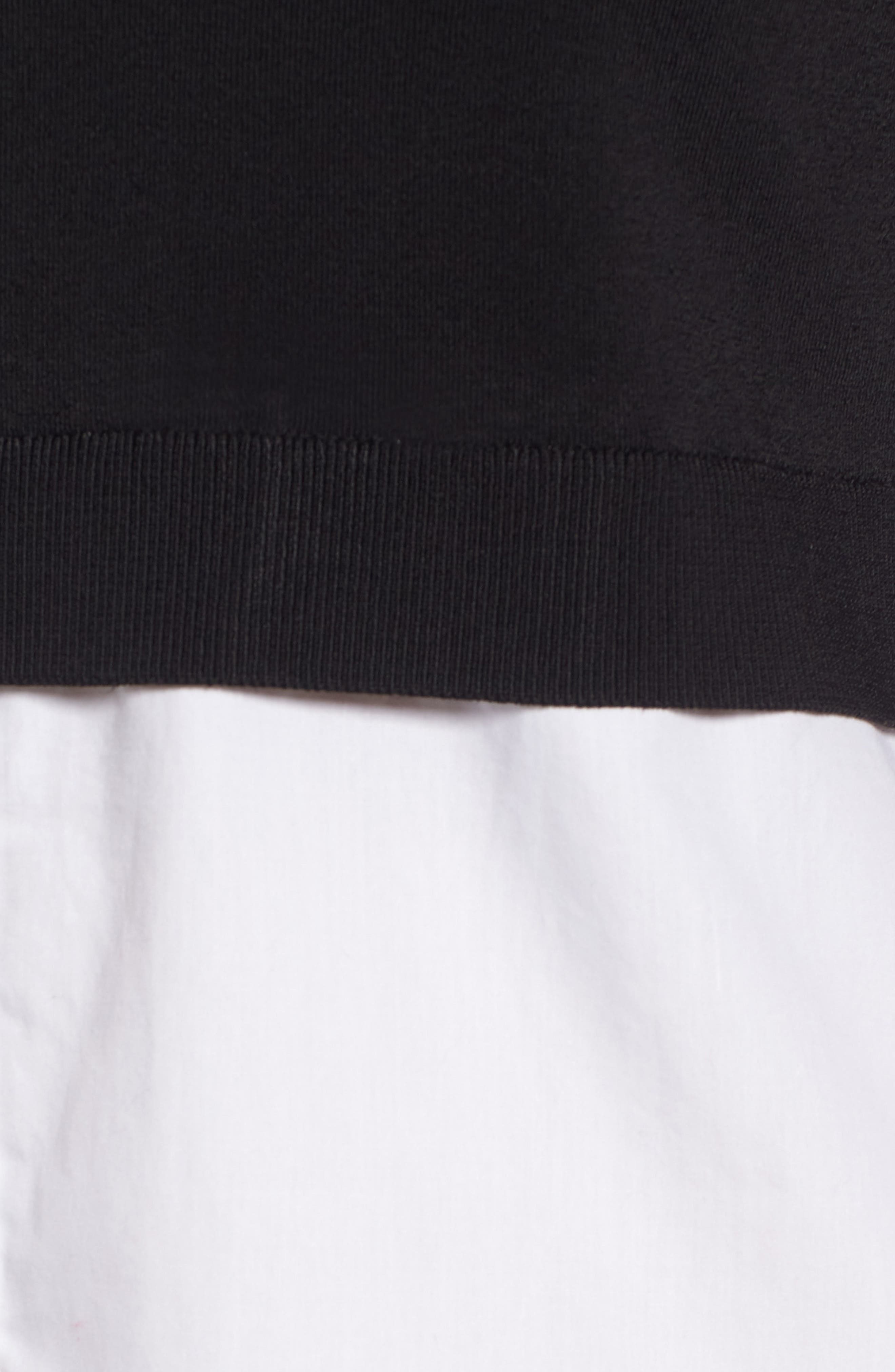 Alternate Image 6  - Trouvé Off the Shoulder Poplin Sweater