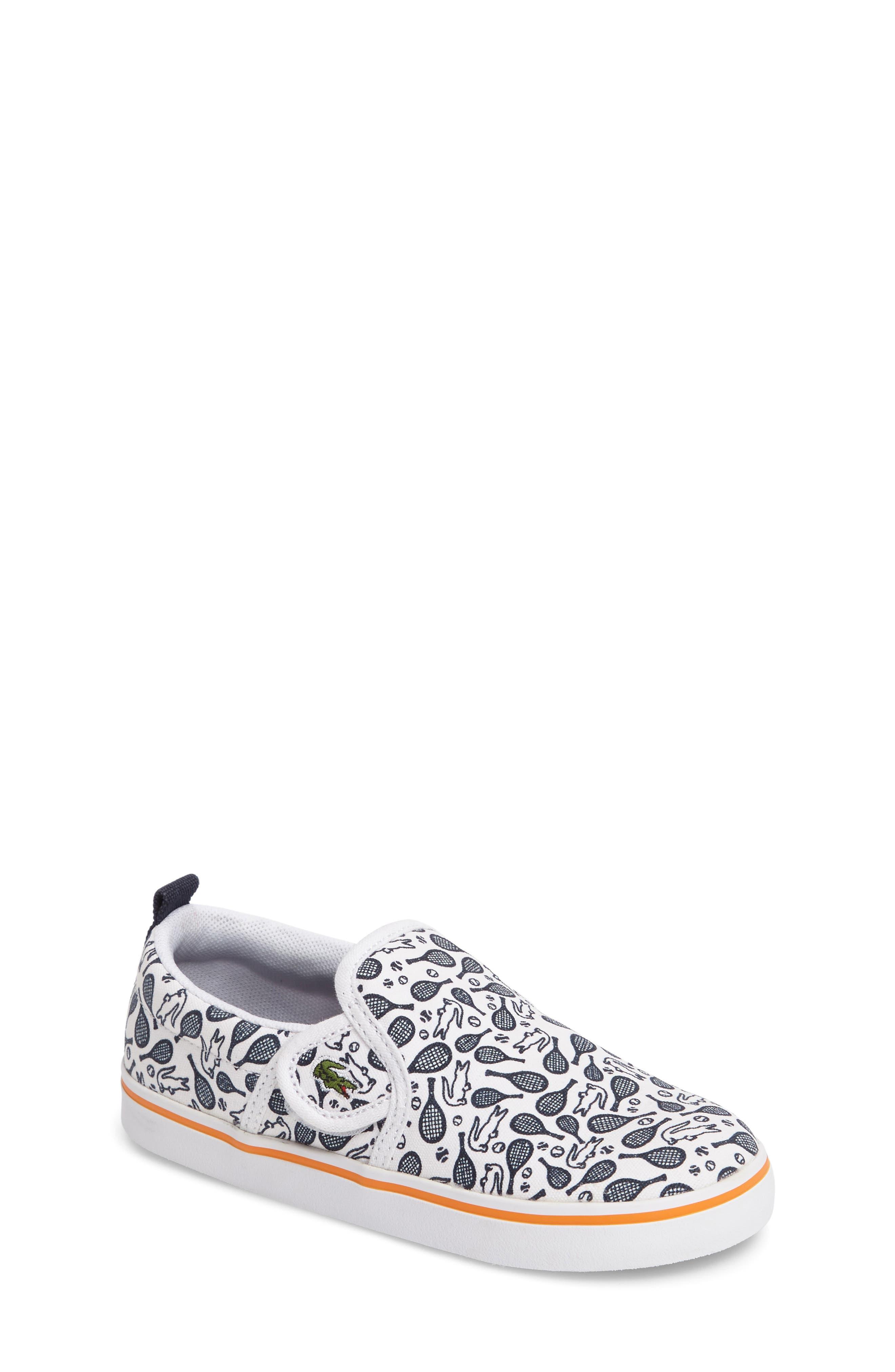 Lacoste Gazon Slip-On Sneaker (Baby, Walker & Toddler)