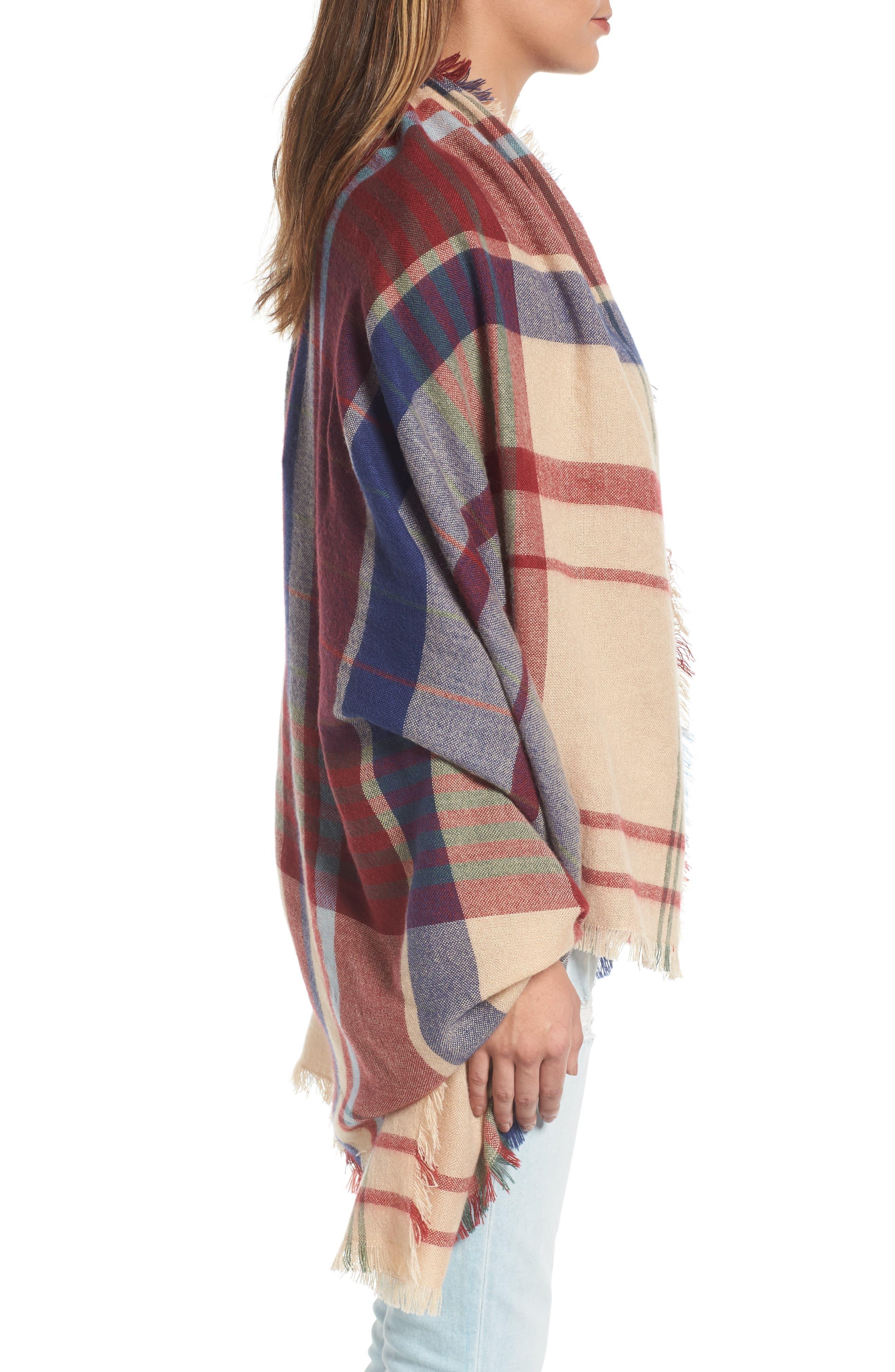Alternate Image 4  - Treasure & Bond Heritage Plaid Blanket Wrap