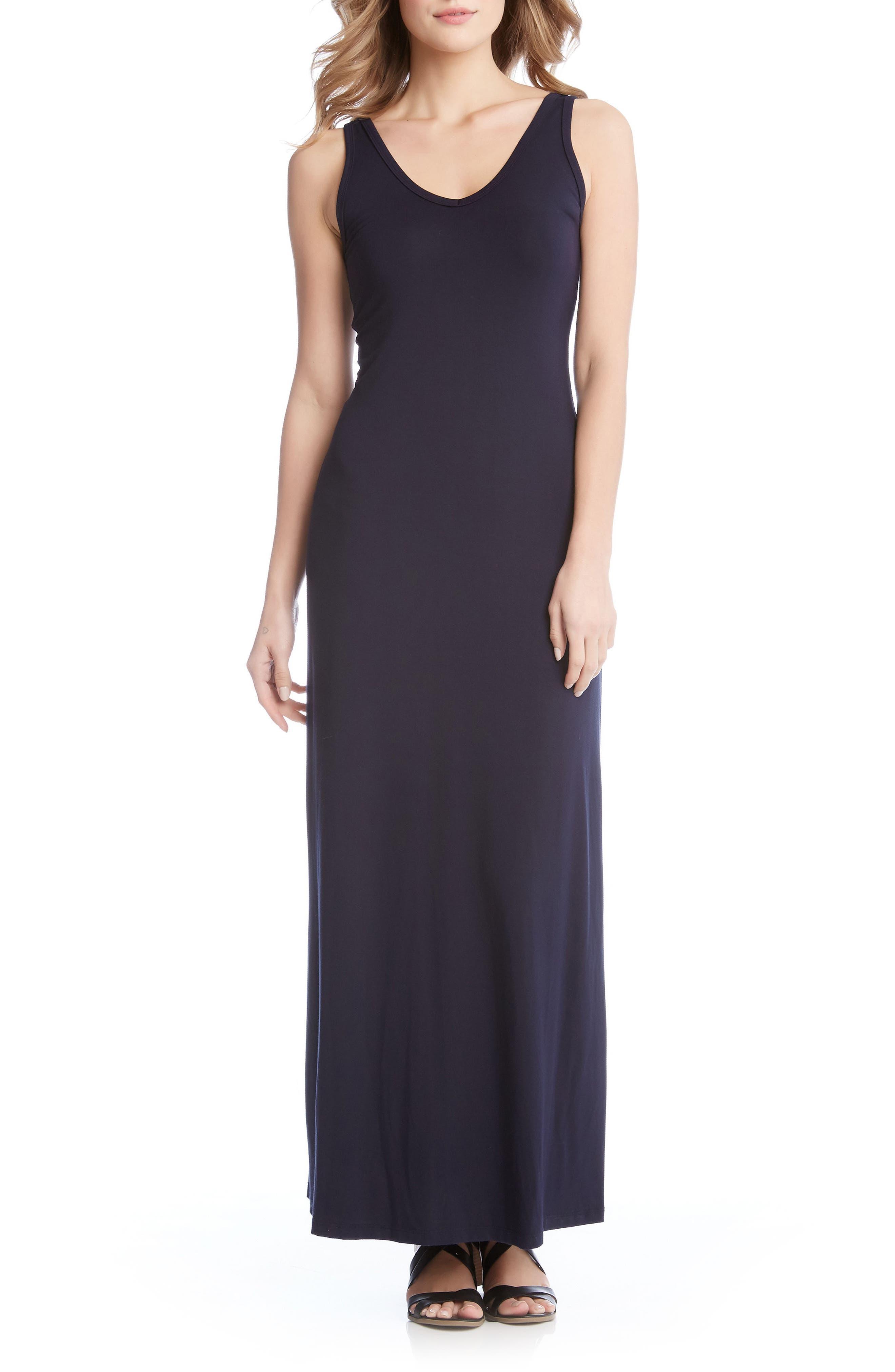 Alana Jersey Maxi Dress,                         Main,                         color, Navy