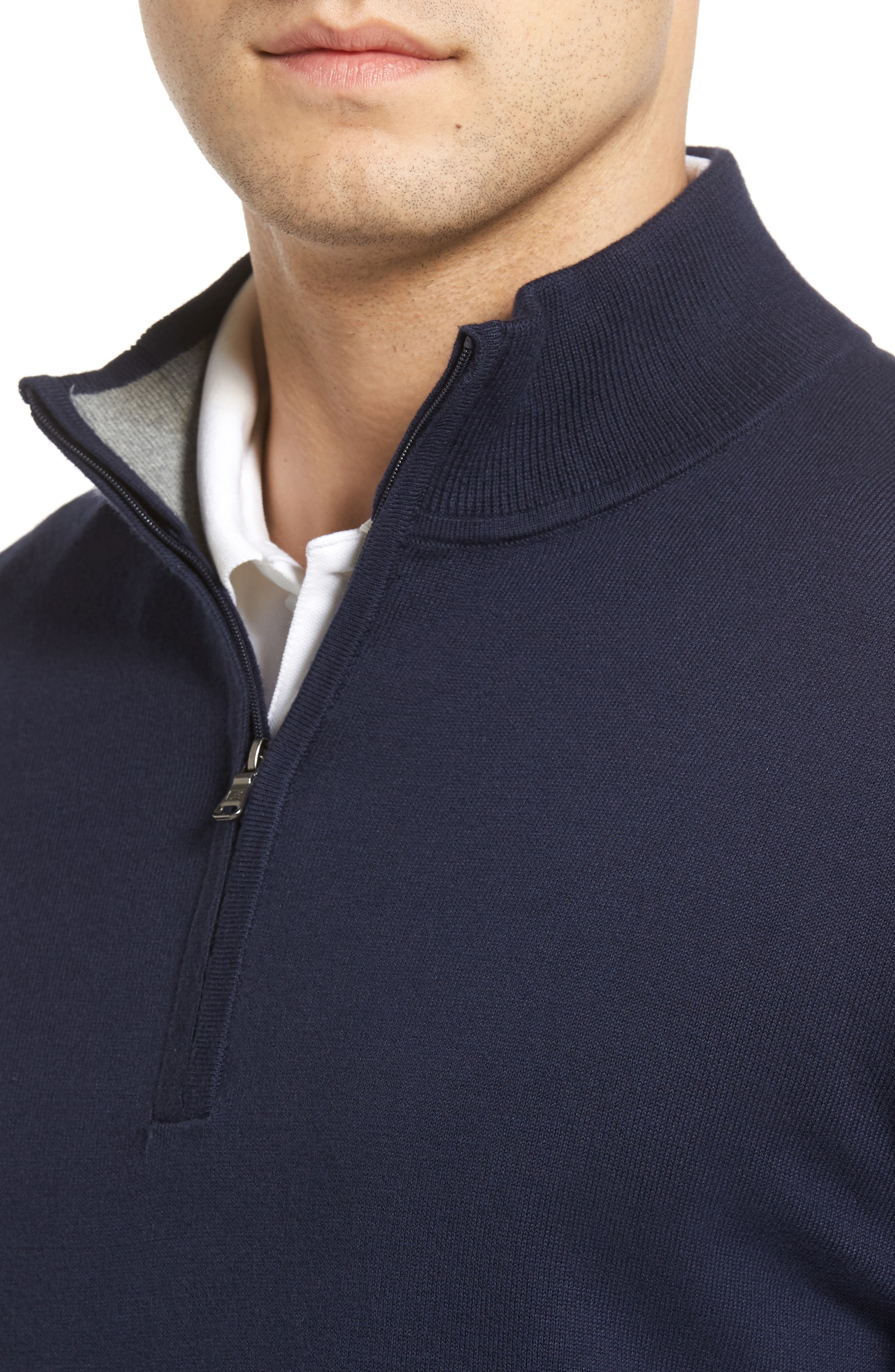 Lakemont Half Zip Sweater,                             Alternate thumbnail 4, color,                             Liberty Navy