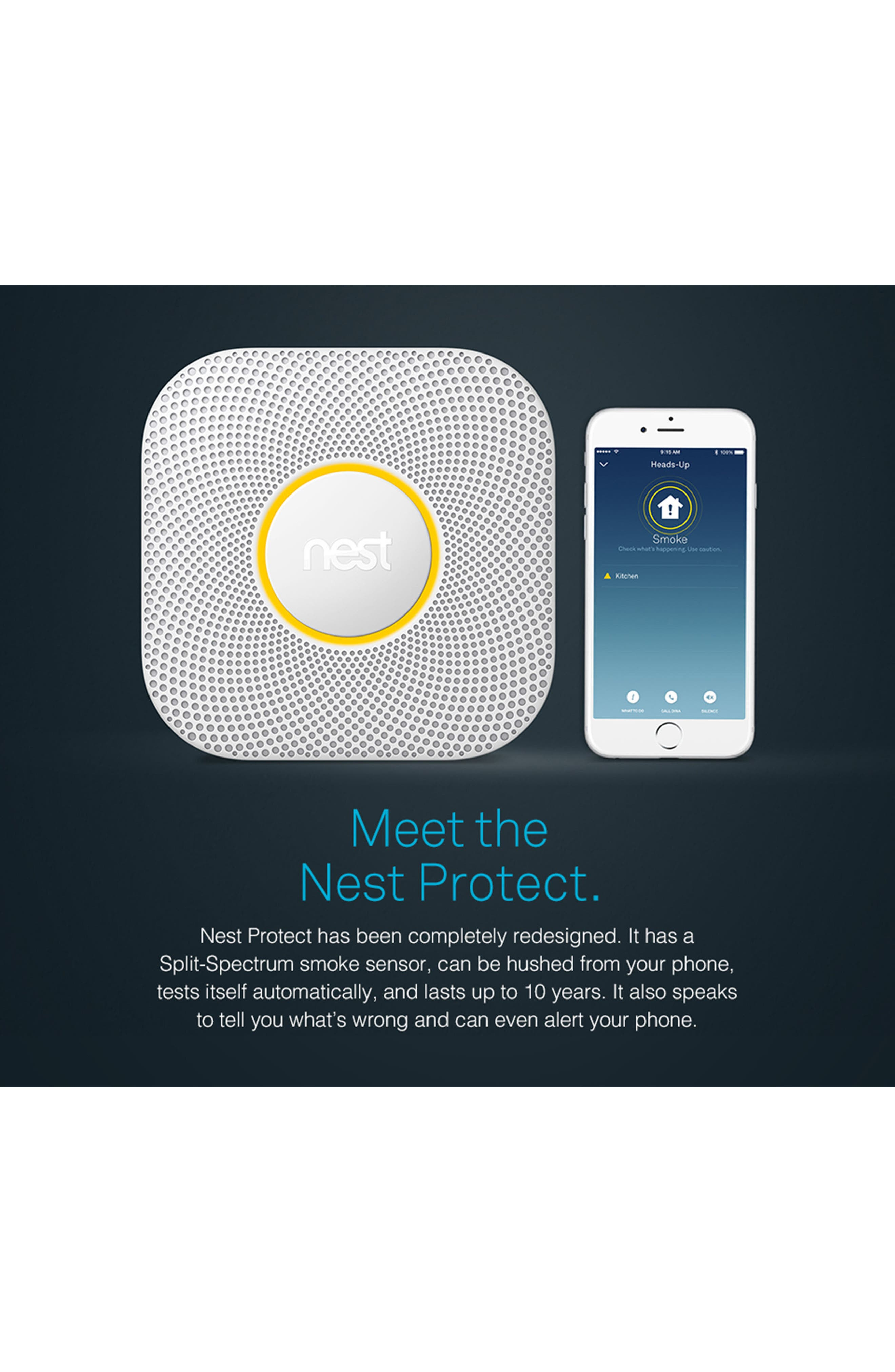Protect Smoke & Carbon Monoxide Alarm,                             Alternate thumbnail 4, color,                             Battery Operated