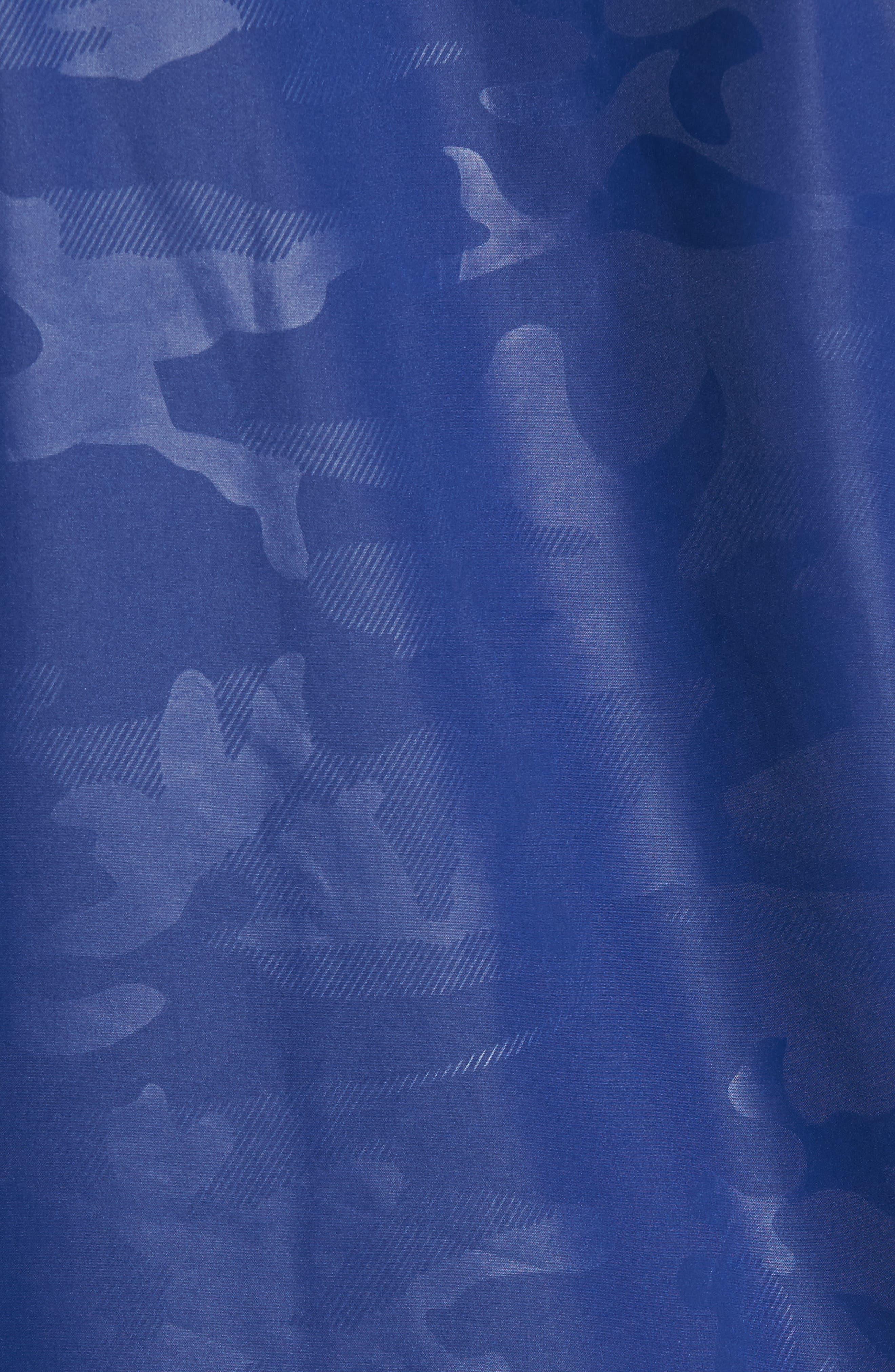 Camou Rudder Waterproof Jacket,                             Alternate thumbnail 5, color,                             Twilight Blue