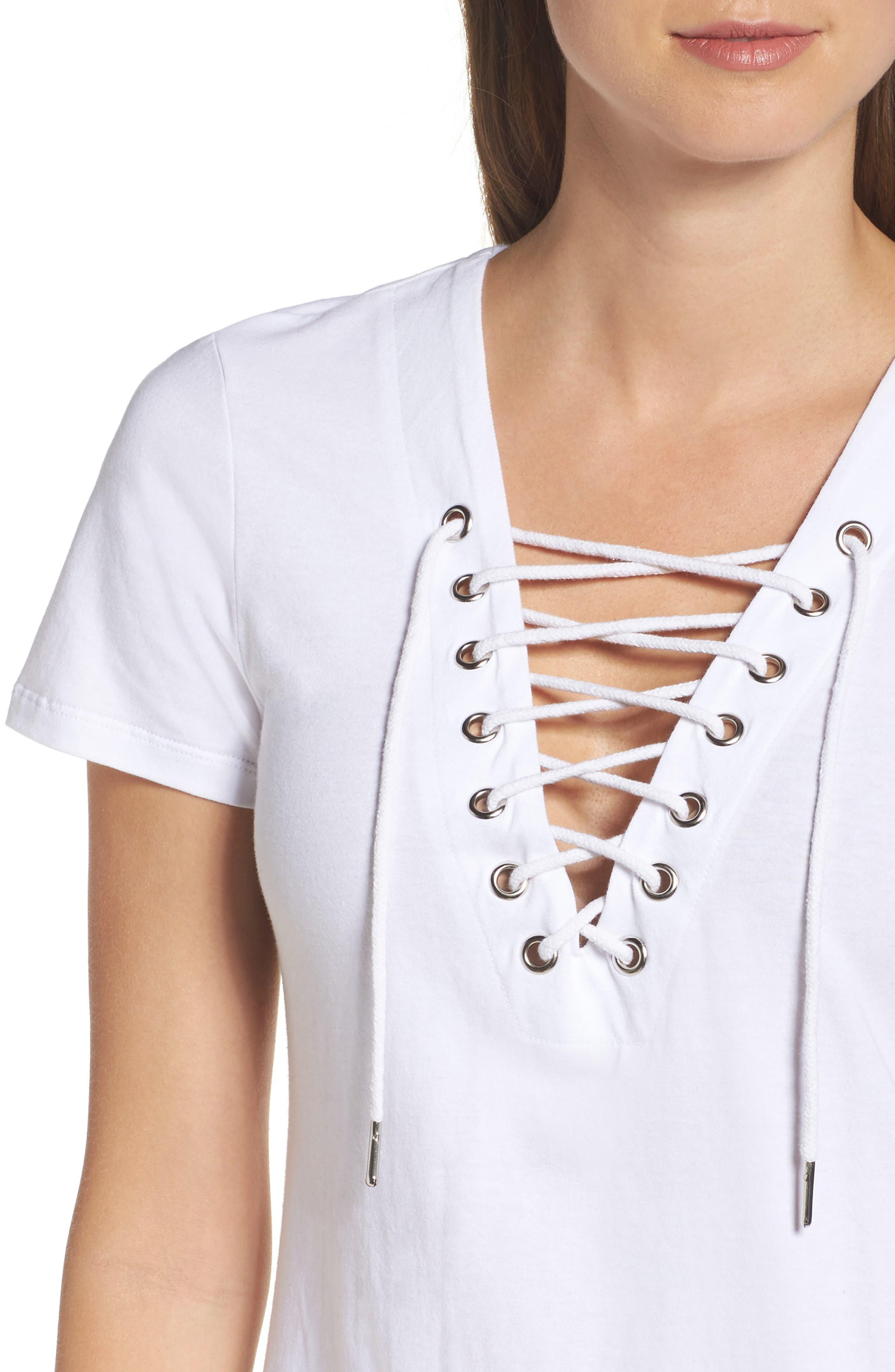 Alternate Image 4  - Bardot Lace-Up Shirtdress
