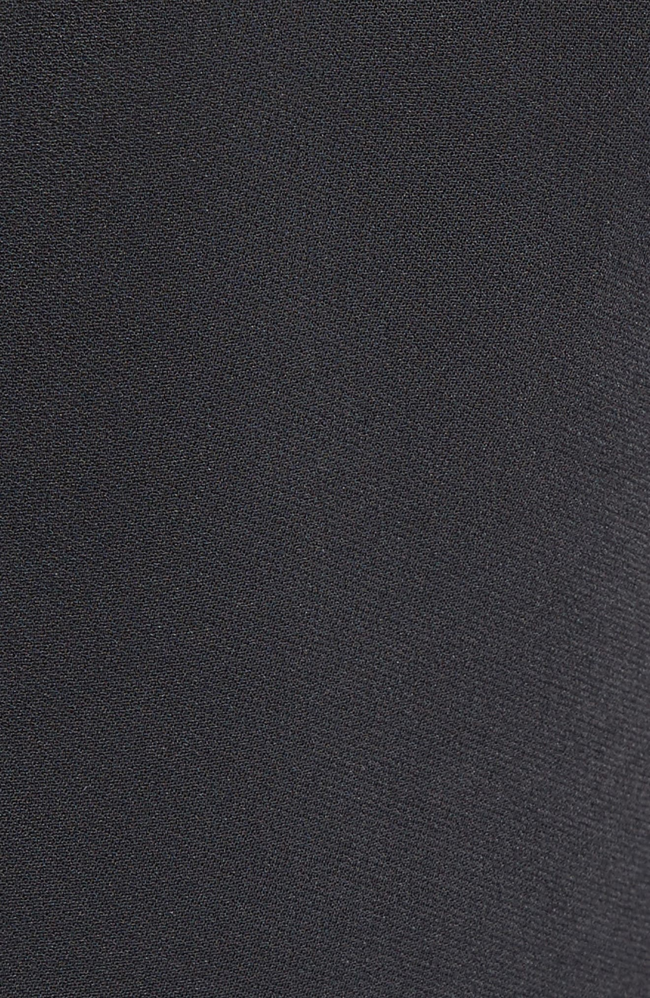Pleated Fit & Flare Minidress,                             Alternate thumbnail 3, color,                             Black