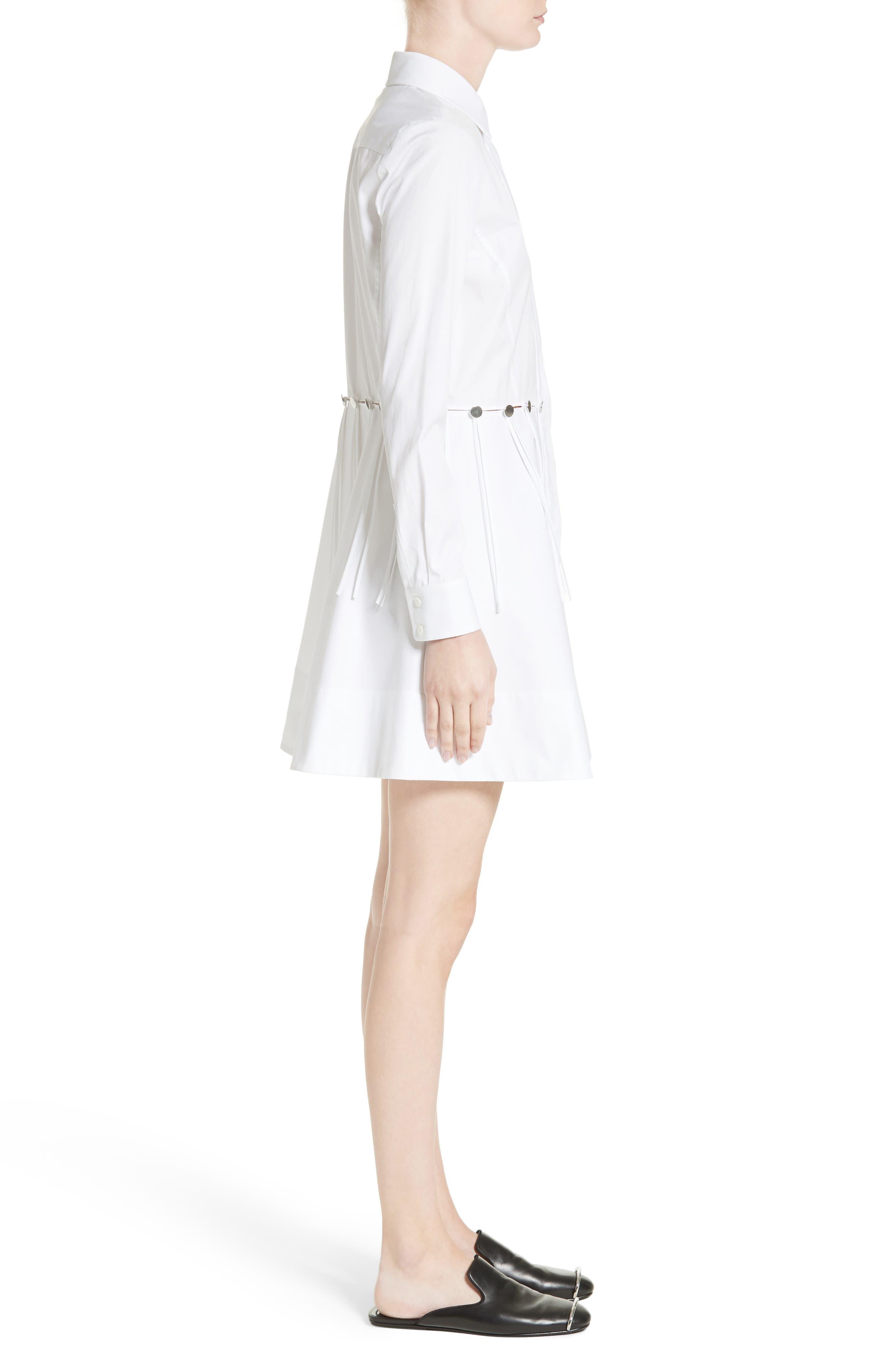 Cotton Poplin Shirtdress,                             Alternate thumbnail 5, color,                             Eggshell