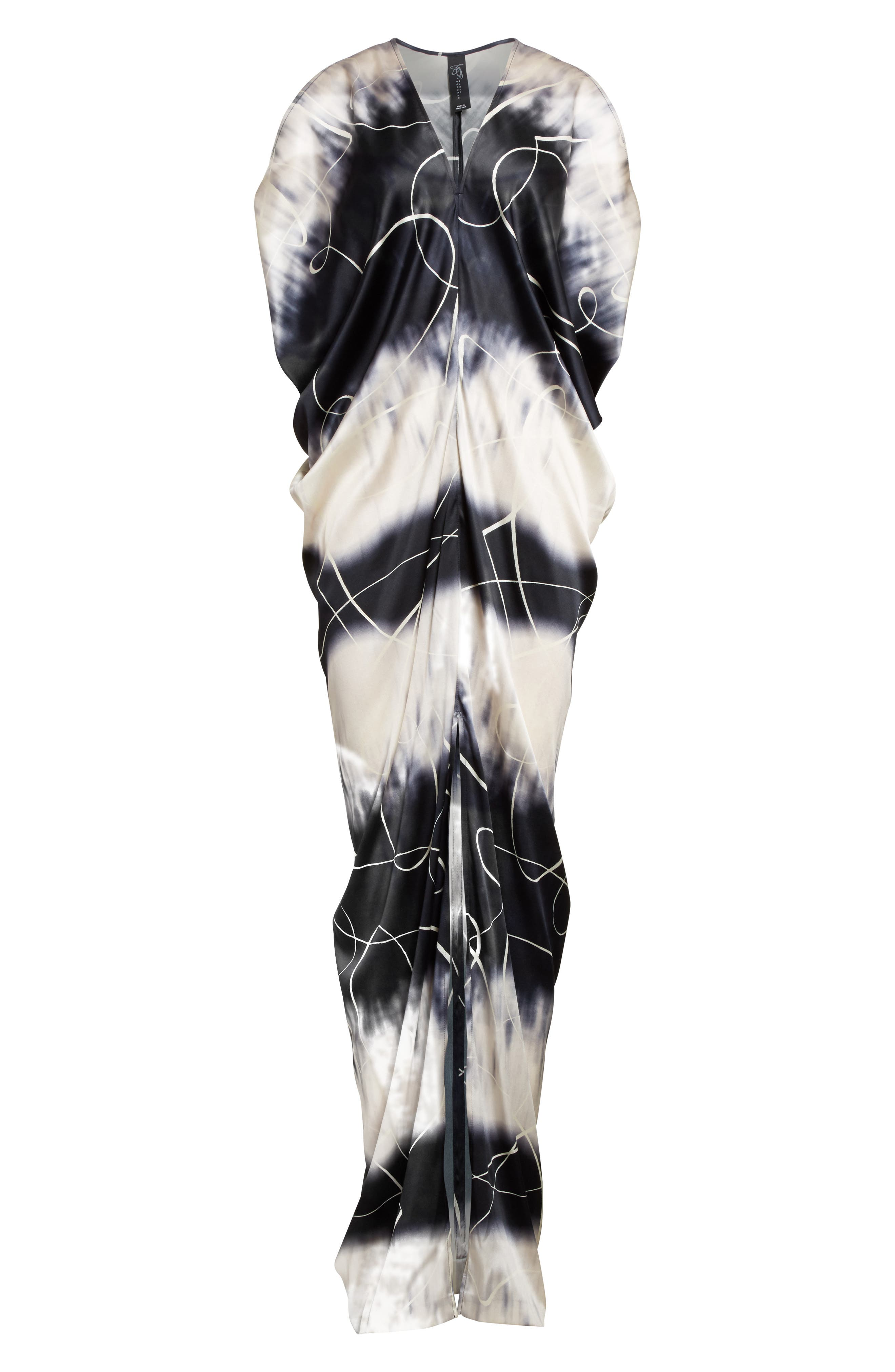Kou Elliott X-Ray Stretch Silk Dress,                             Alternate thumbnail 4, color,                             Elliot X-Ray