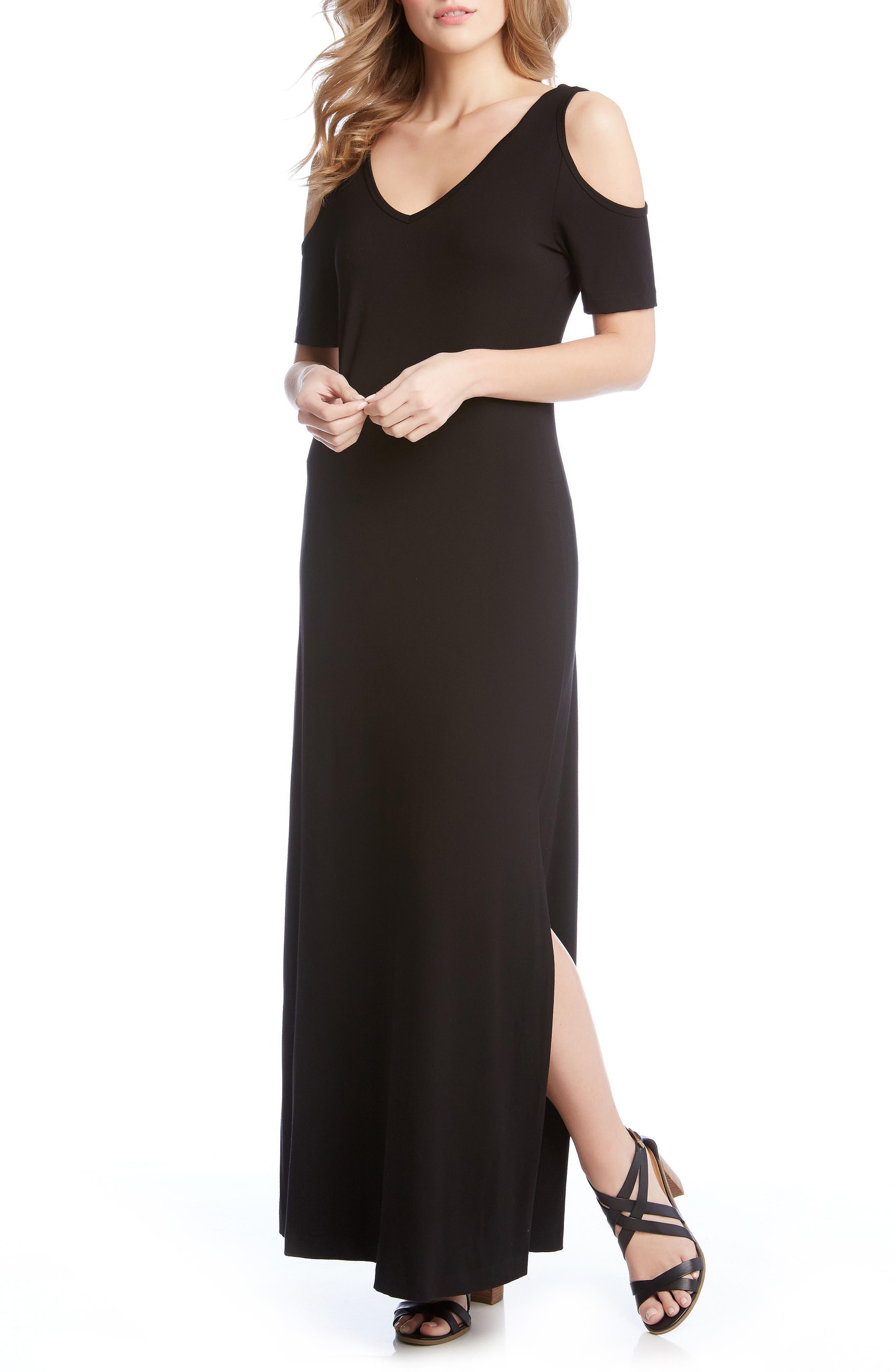 Karen Kane Cold Shoulder Maxi Dress