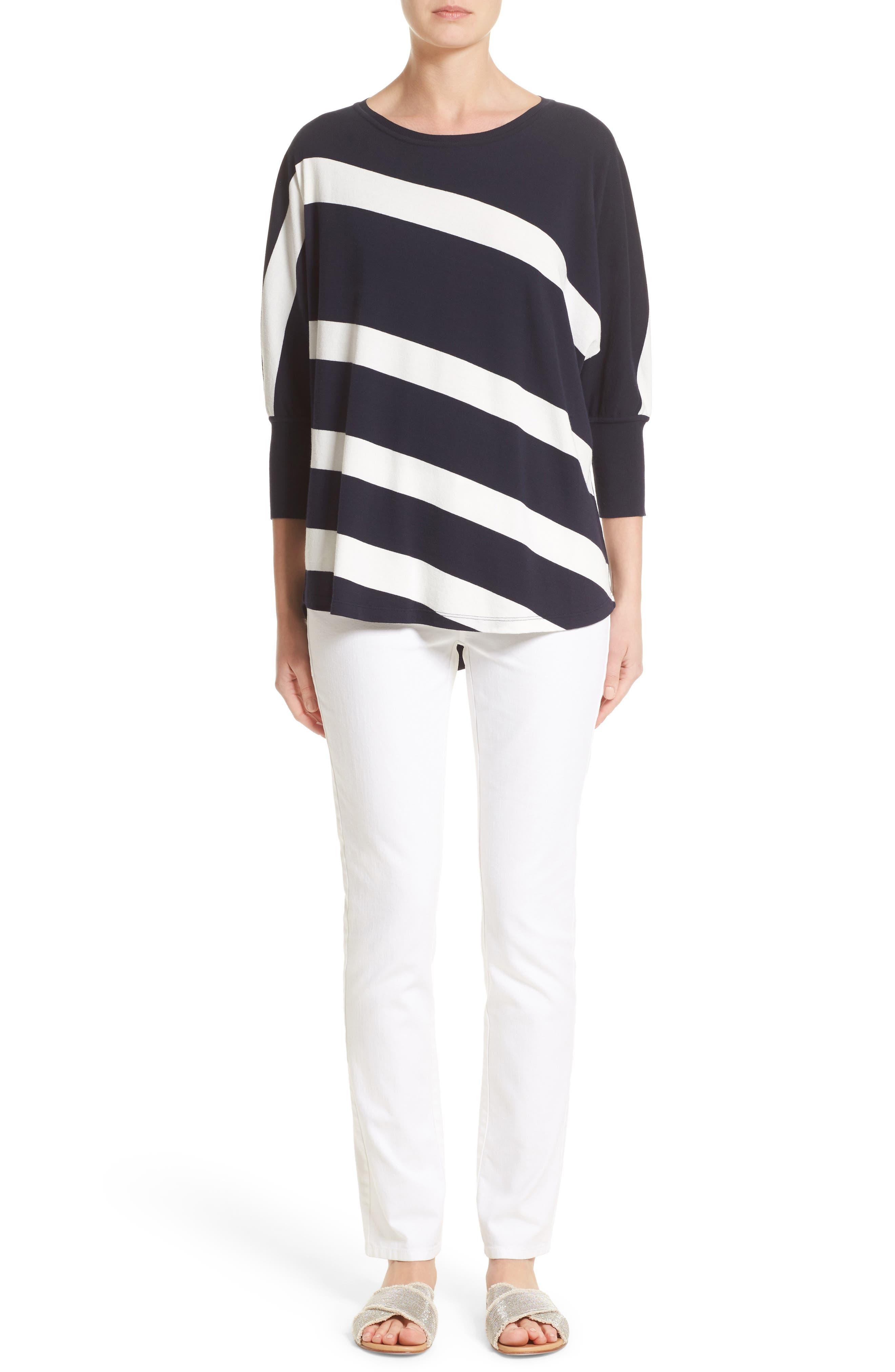 Alternate Image 6  - Lafayette 148 New York Stripe Sweater