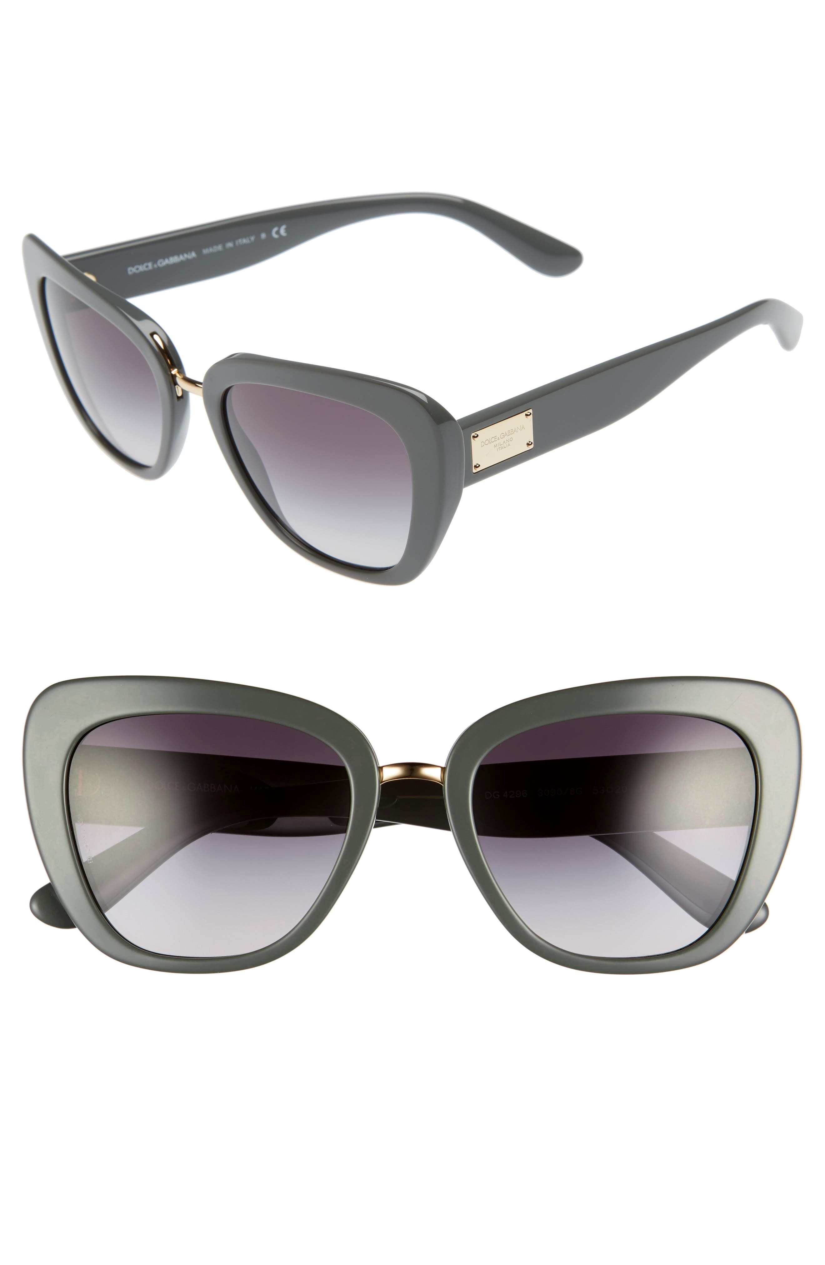 Dolce&Gabbana 53mm Gradient Cat Eye Sunglasses