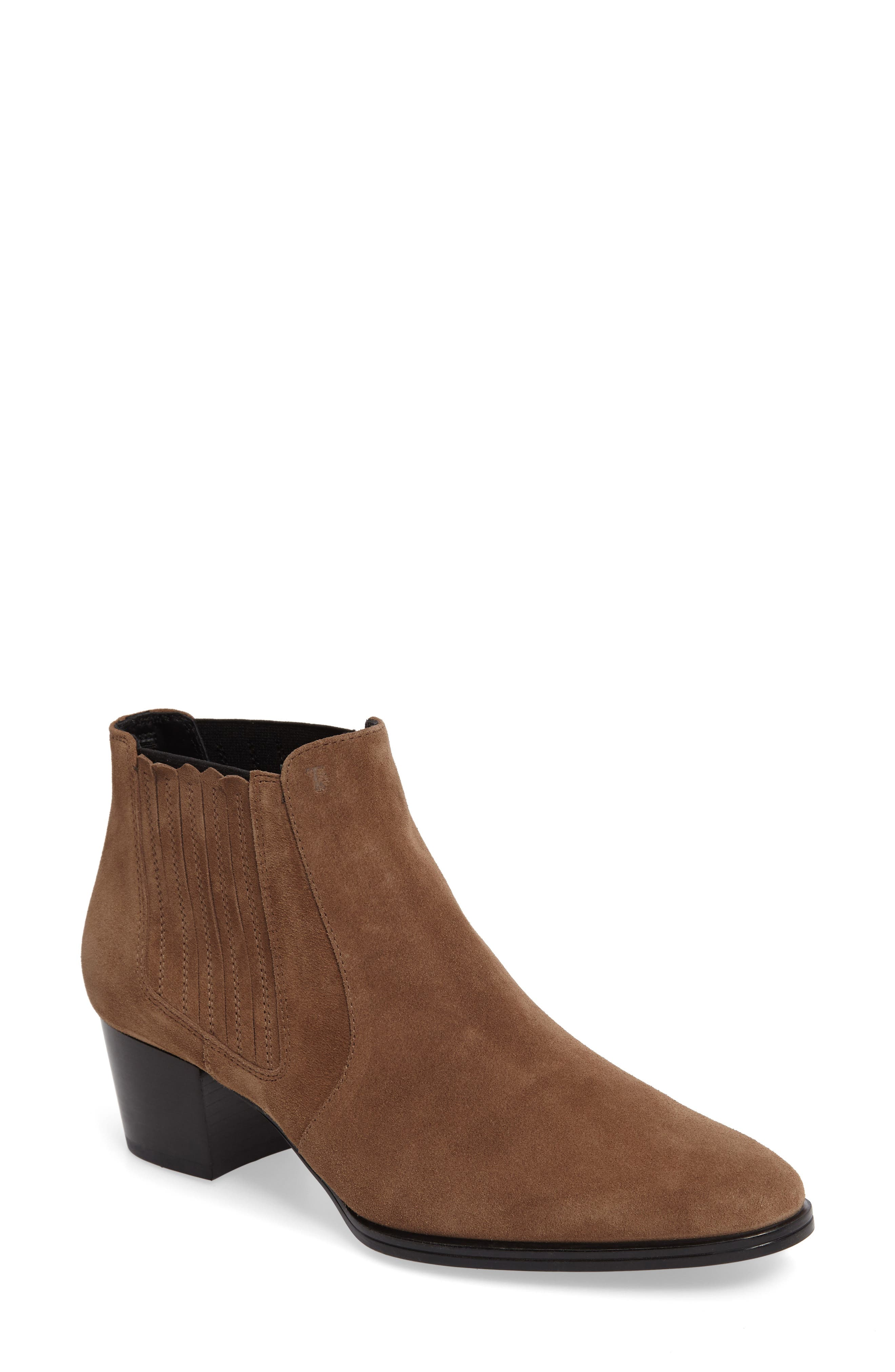 Tods Western Block Heel Chelsea Bootie (Women)