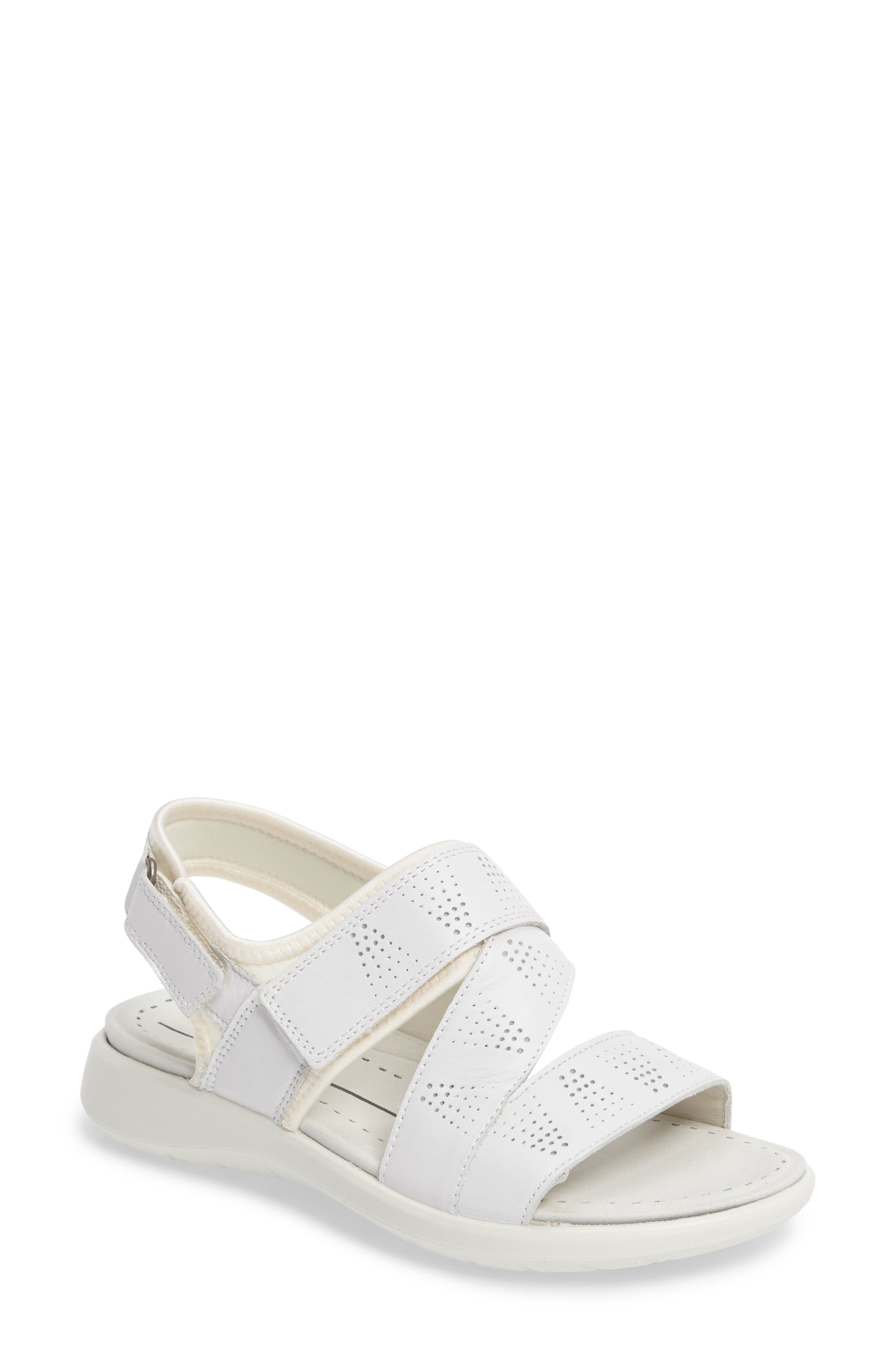 Soft 5 Sandal,                         Main,                         color, White Leather