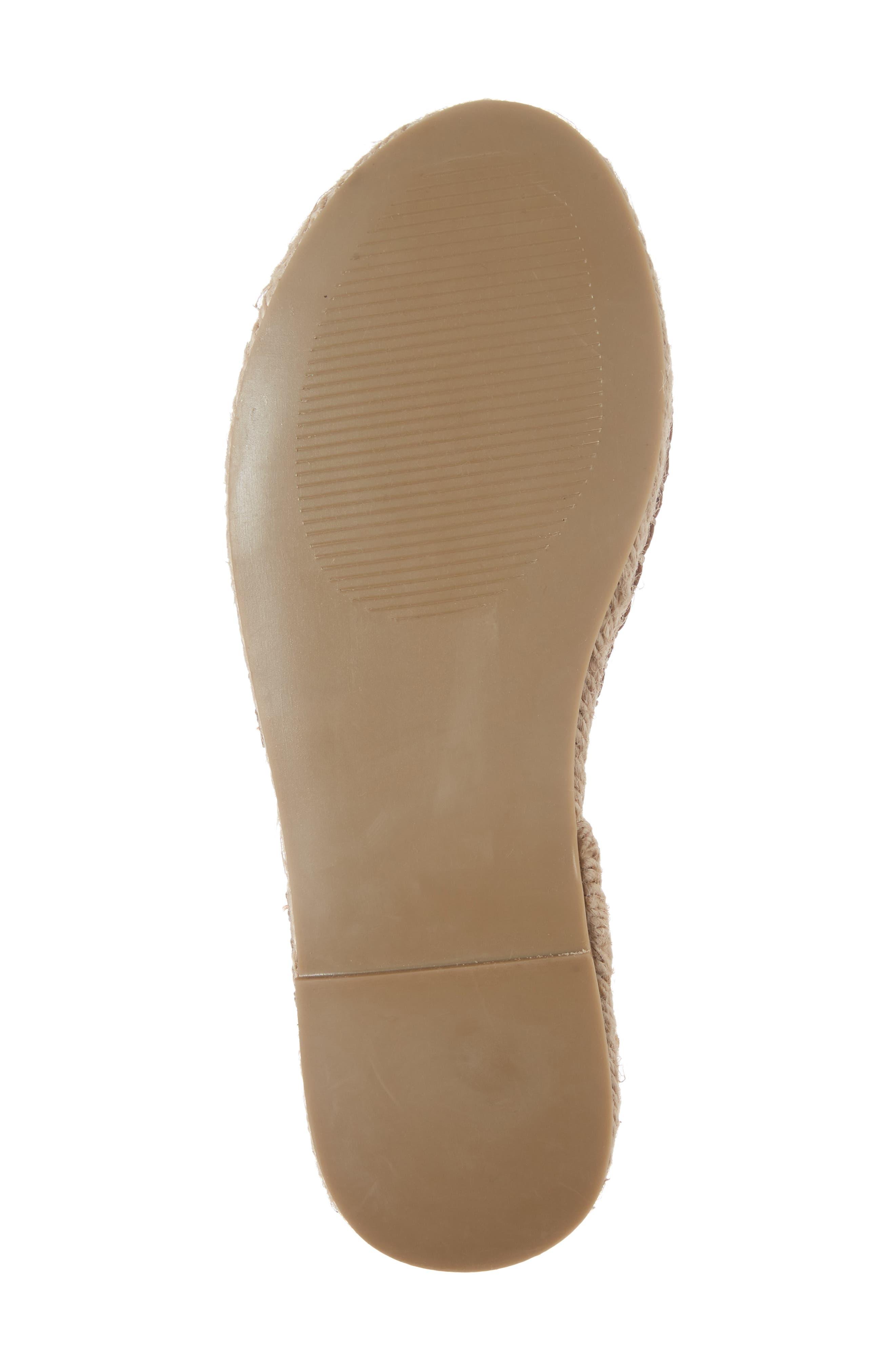 Clover Ankle Wrap Espadrille Sandal,                             Alternate thumbnail 6, color,                             Cognac Leather