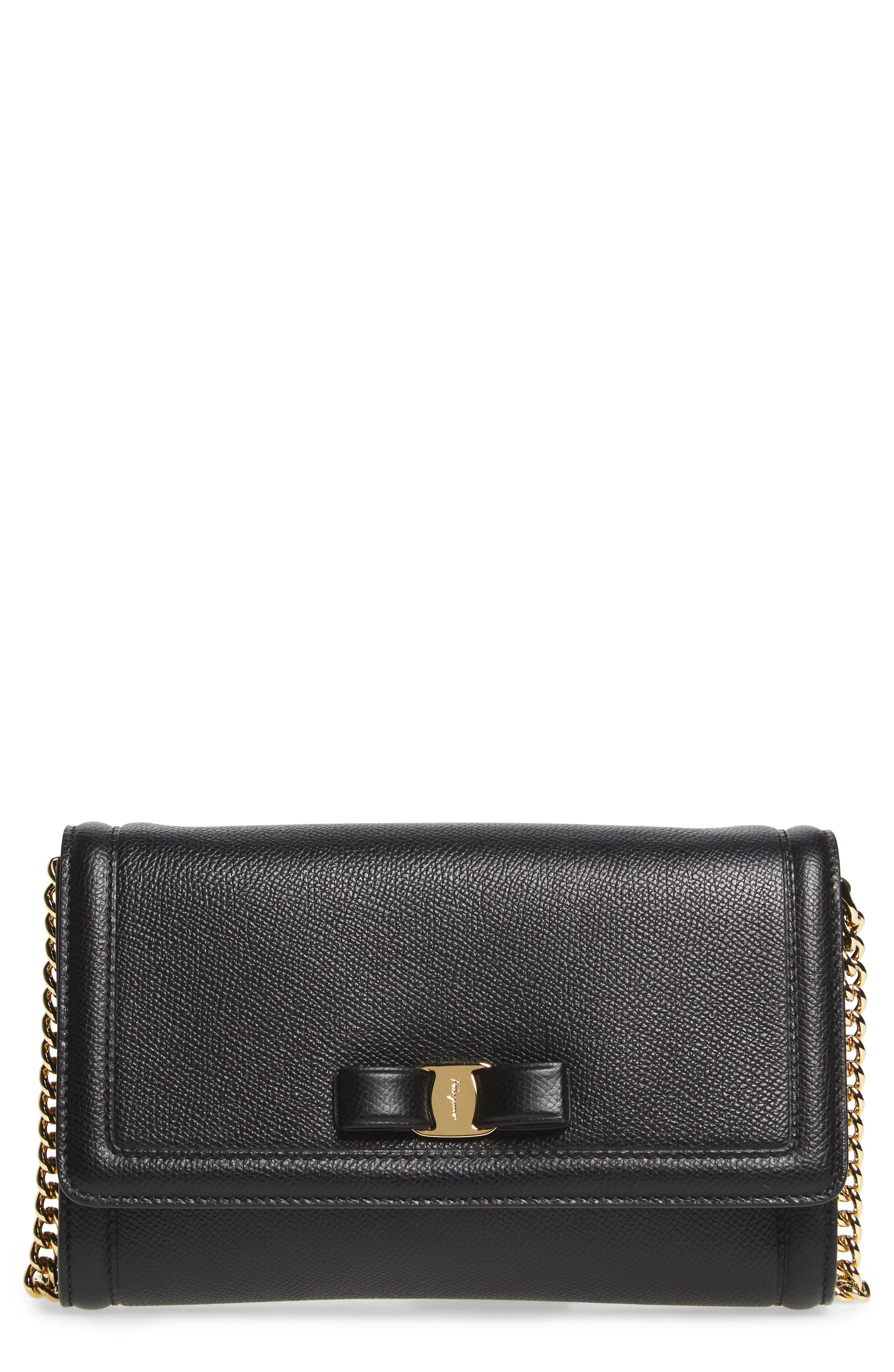 Salvatore Ferragamo Mini Vara Leather Crossbody Bag