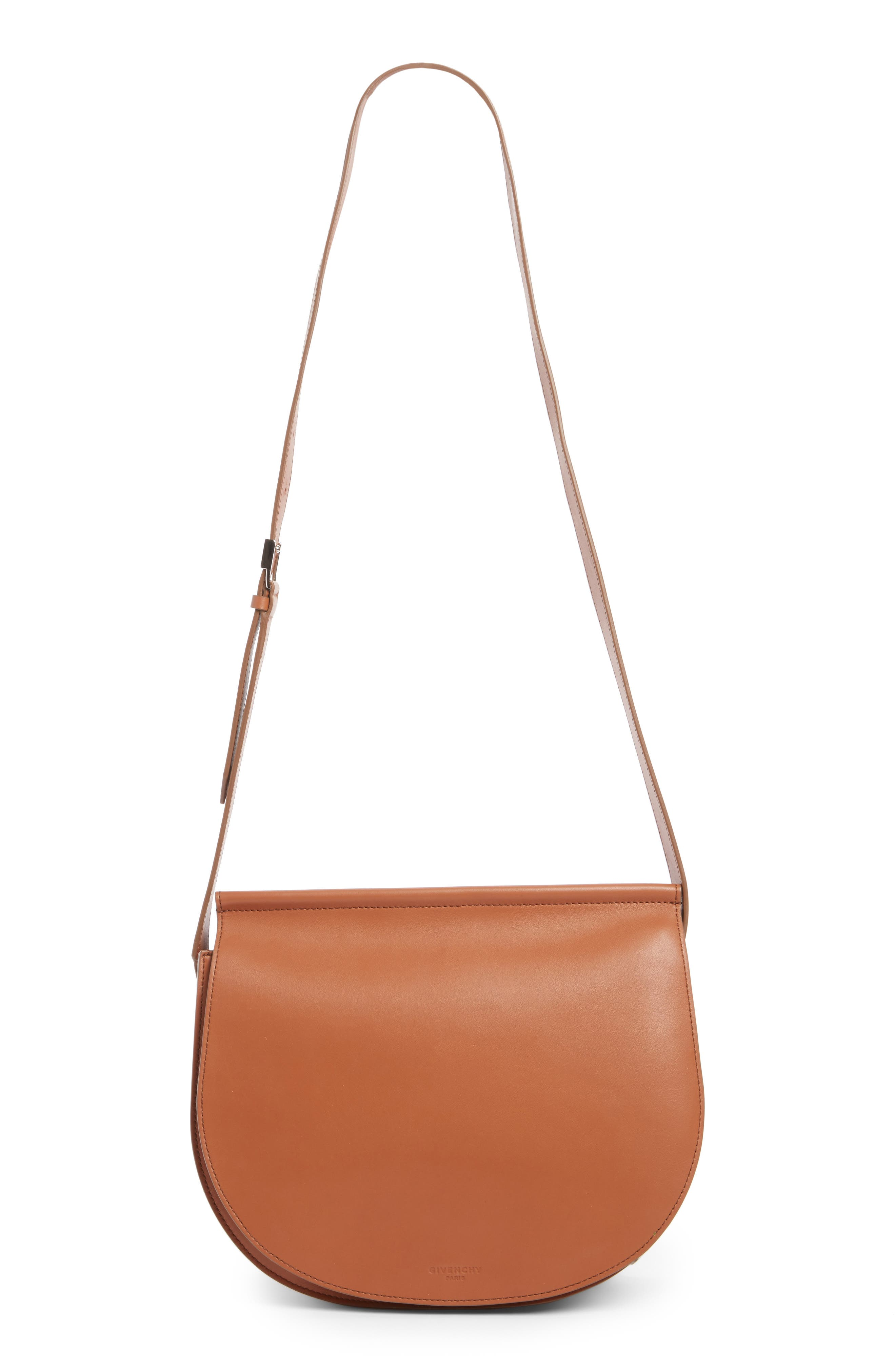 Givenchy Infinity Calfskin Leather Saddle Bag