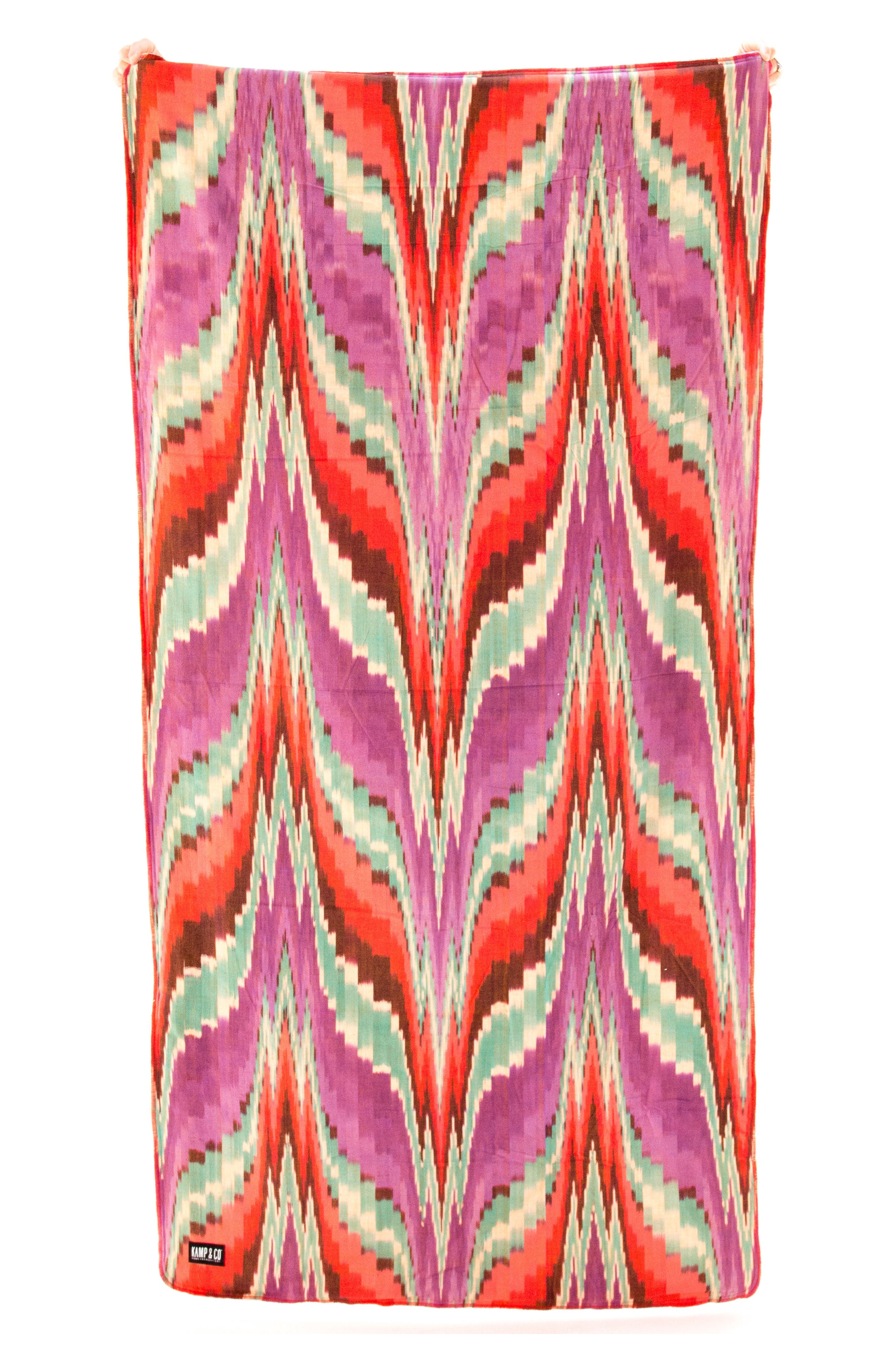 Kamp & Co. Leucadia Kamp Towel,                         Main,                         color, Coral/ Purple/ Red