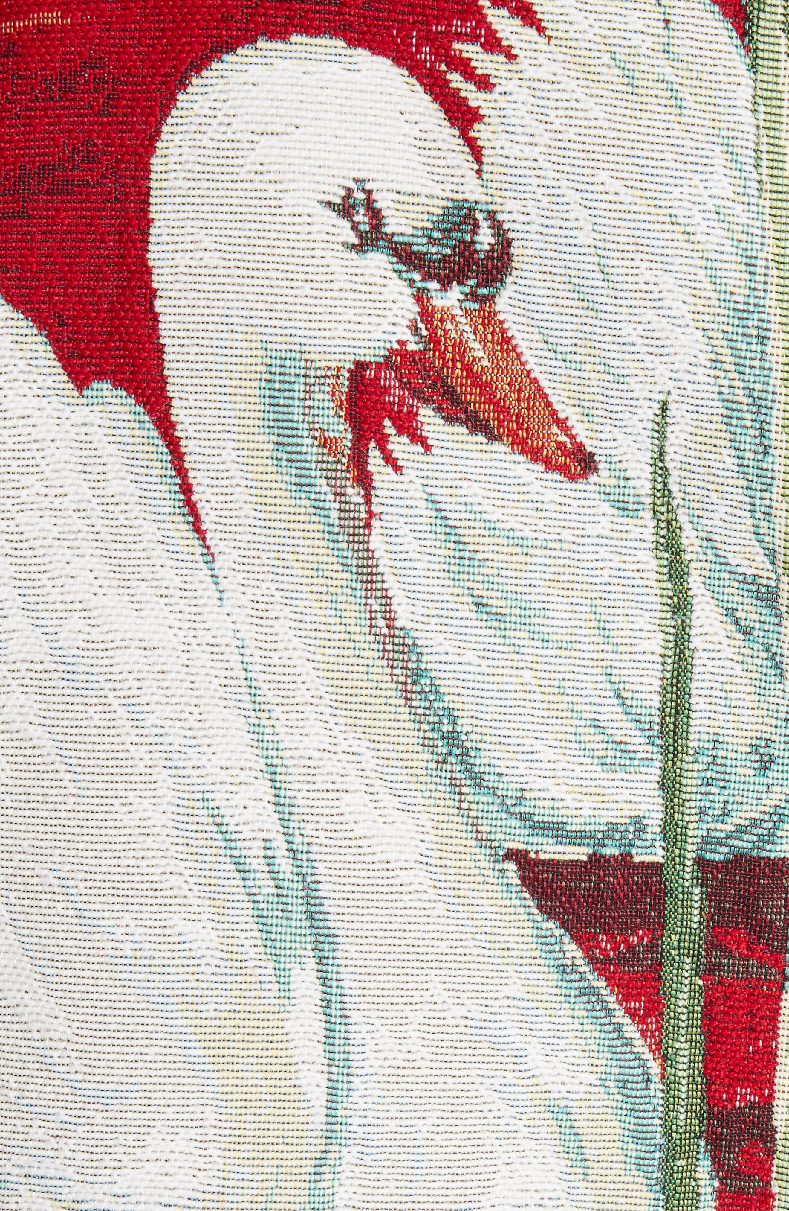 Swan Print Raglan Bomber,                             Alternate thumbnail 6, color,                             Swan Scene