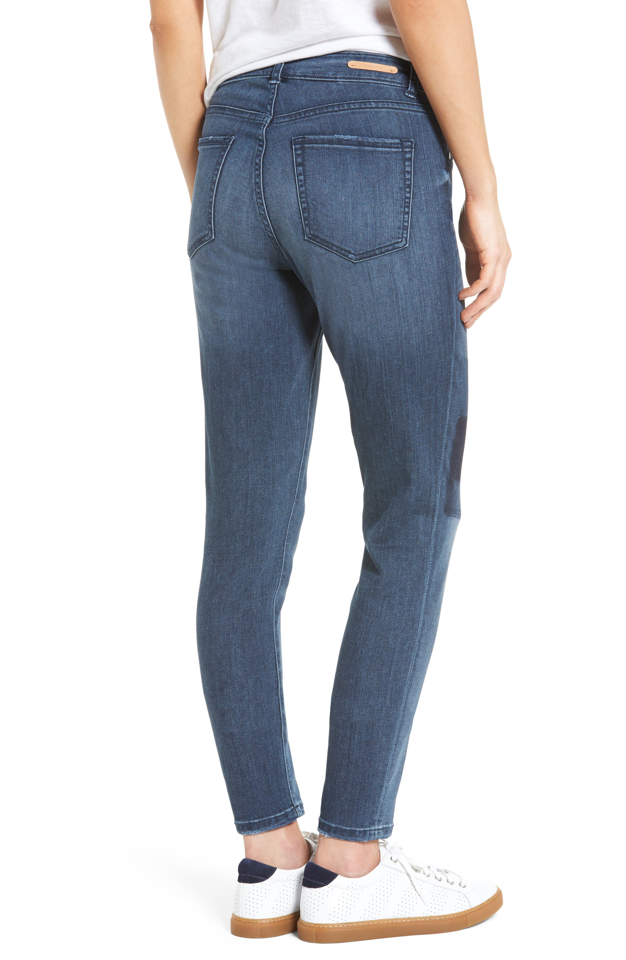 Alternate Image 3  - Caslon® Patchwork Skinny Jeans (Regular & Petite)