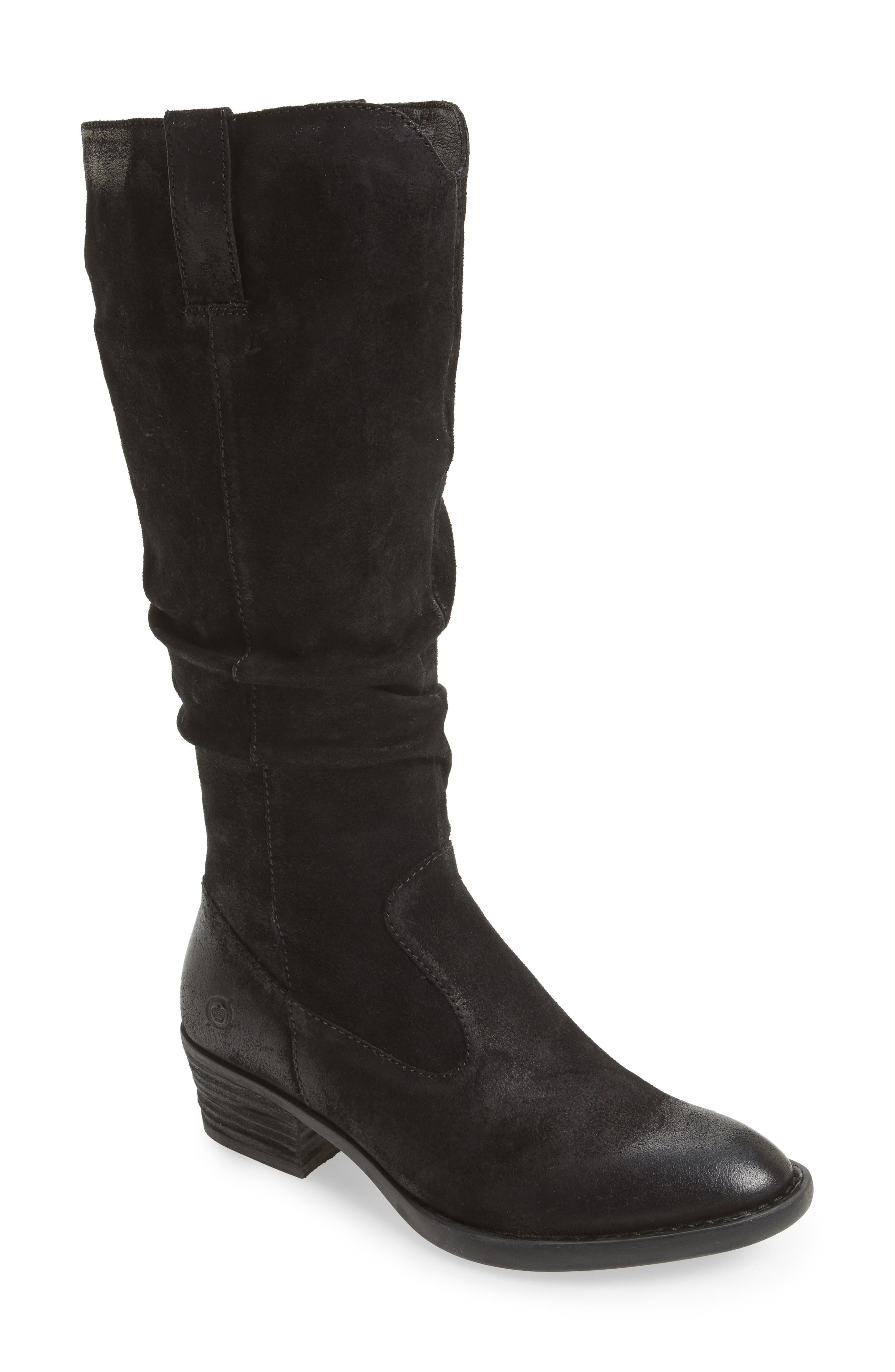 Barren Boot,                             Main thumbnail 1, color,                             Black Distressed Leather