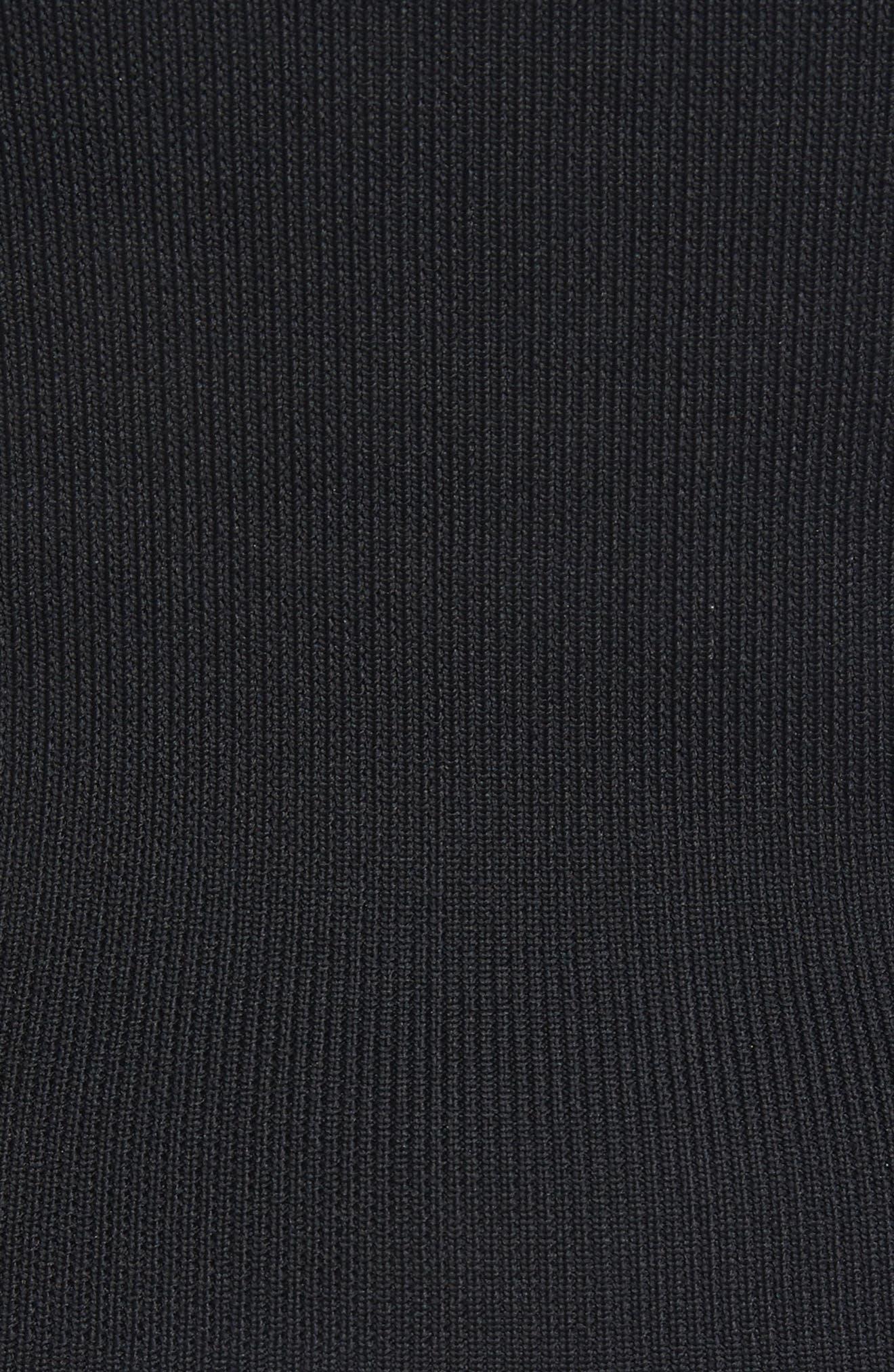 Rib Knit Tube Corset,                             Alternate thumbnail 5, color,                             Black