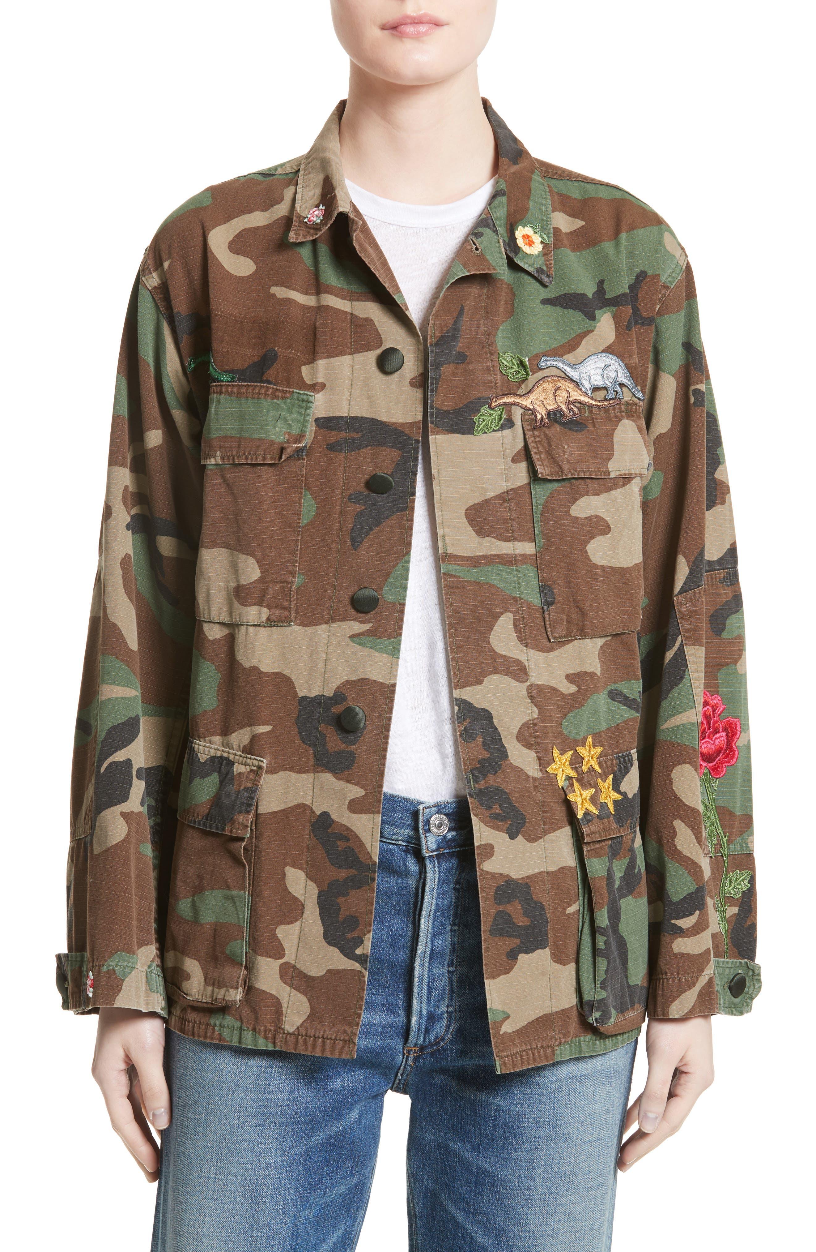 Vintage Woodland Camo Jacket,                         Main,                         color, Woodland