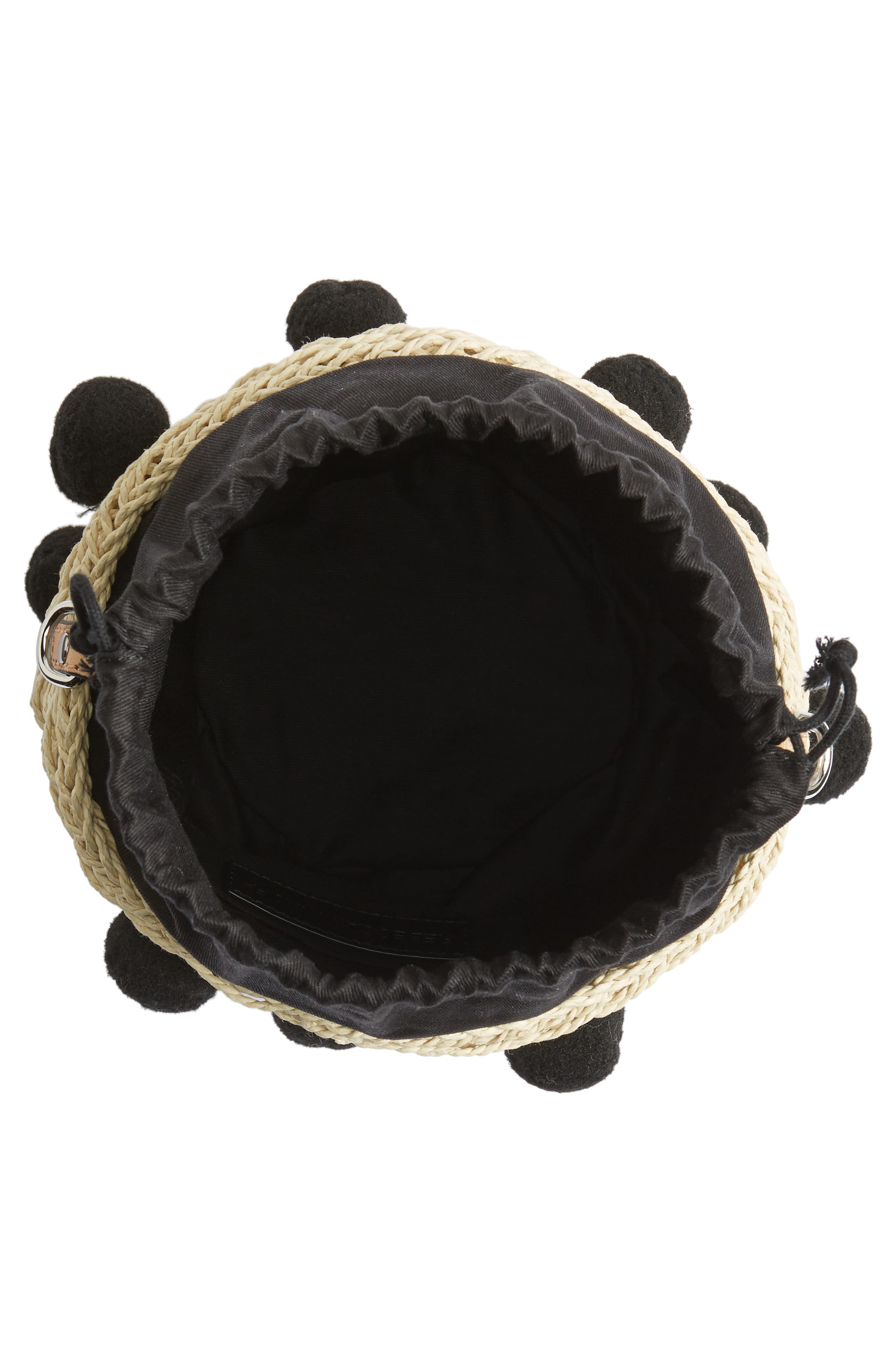 Alternate Image 4  - Rebecca Minkoff Straw Pom Pom Bucket Bag